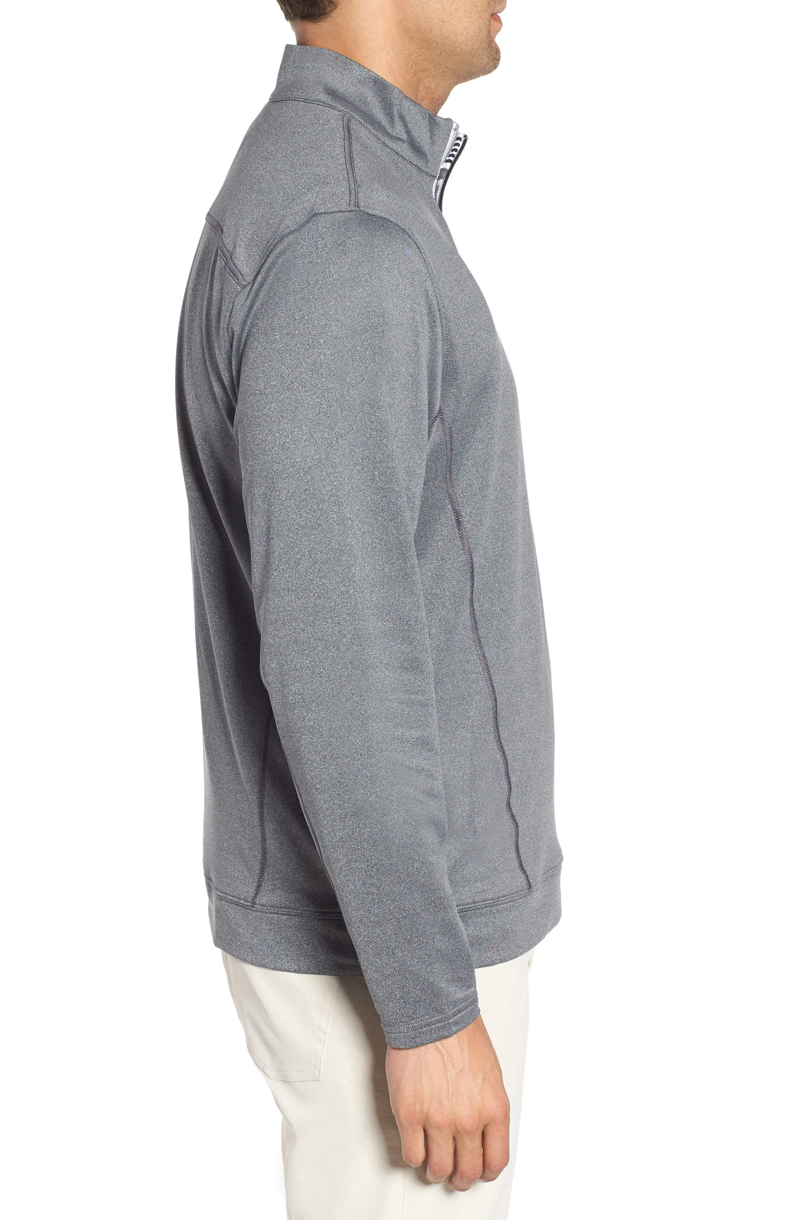 Endurance Pittsburgh Steelers Regular Fit Pullover,                             Alternate thumbnail 3, color,                             CHARCOAL HEATHER