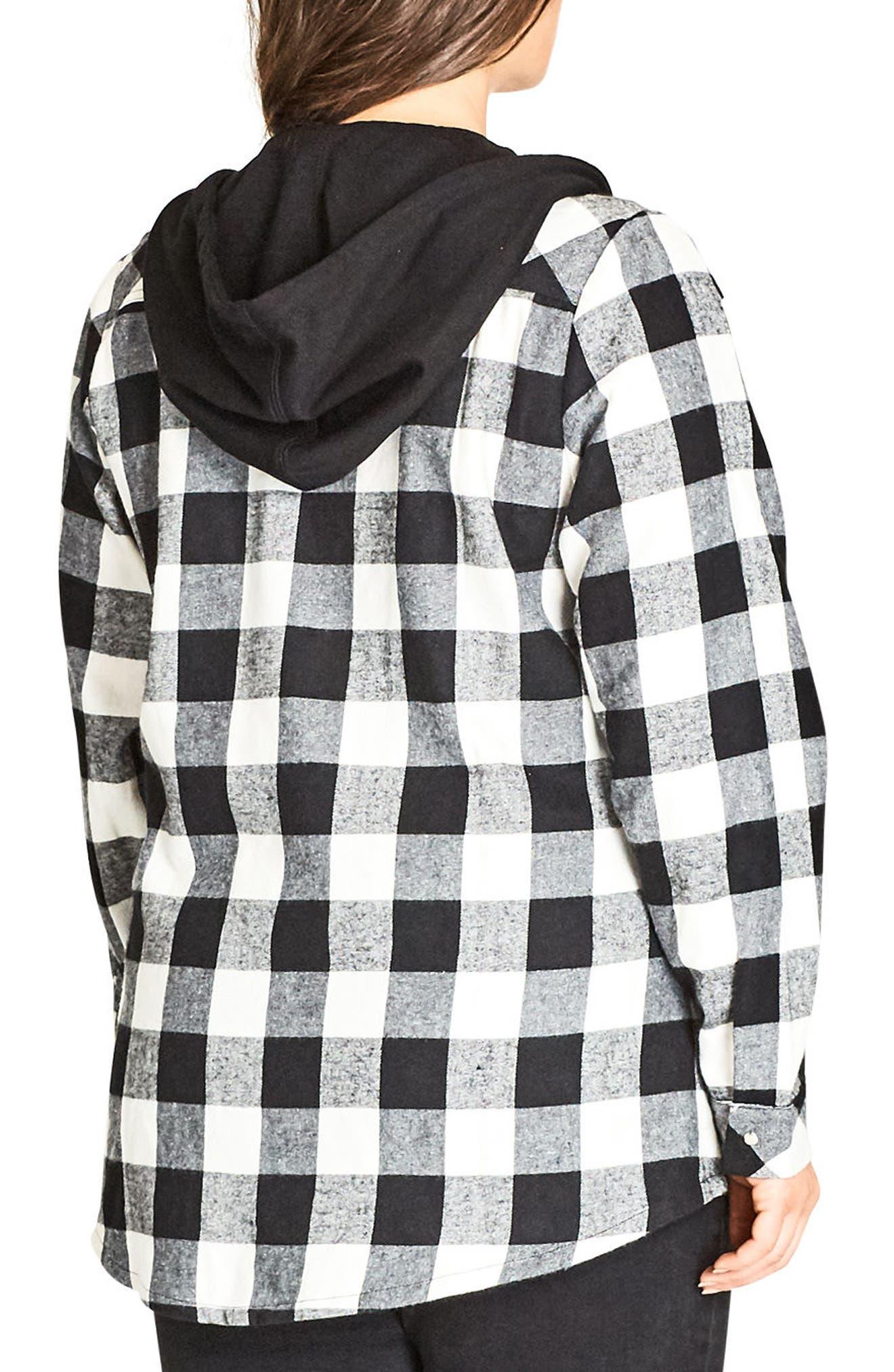 Check Mate Hooded Jacket,                             Alternate thumbnail 2, color,                             001
