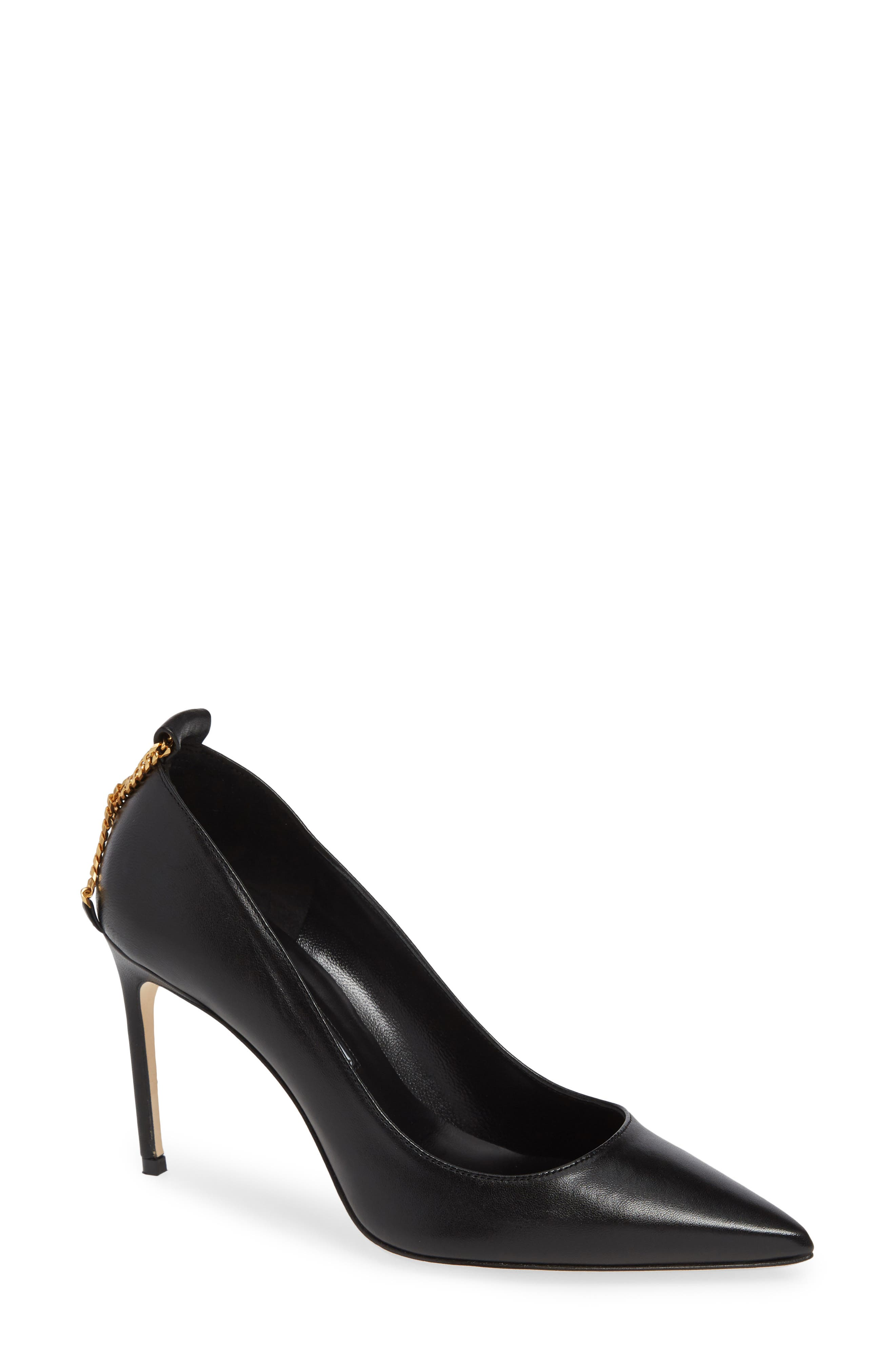 BRIAN ATWOOD Voyage Pump in Black Leather