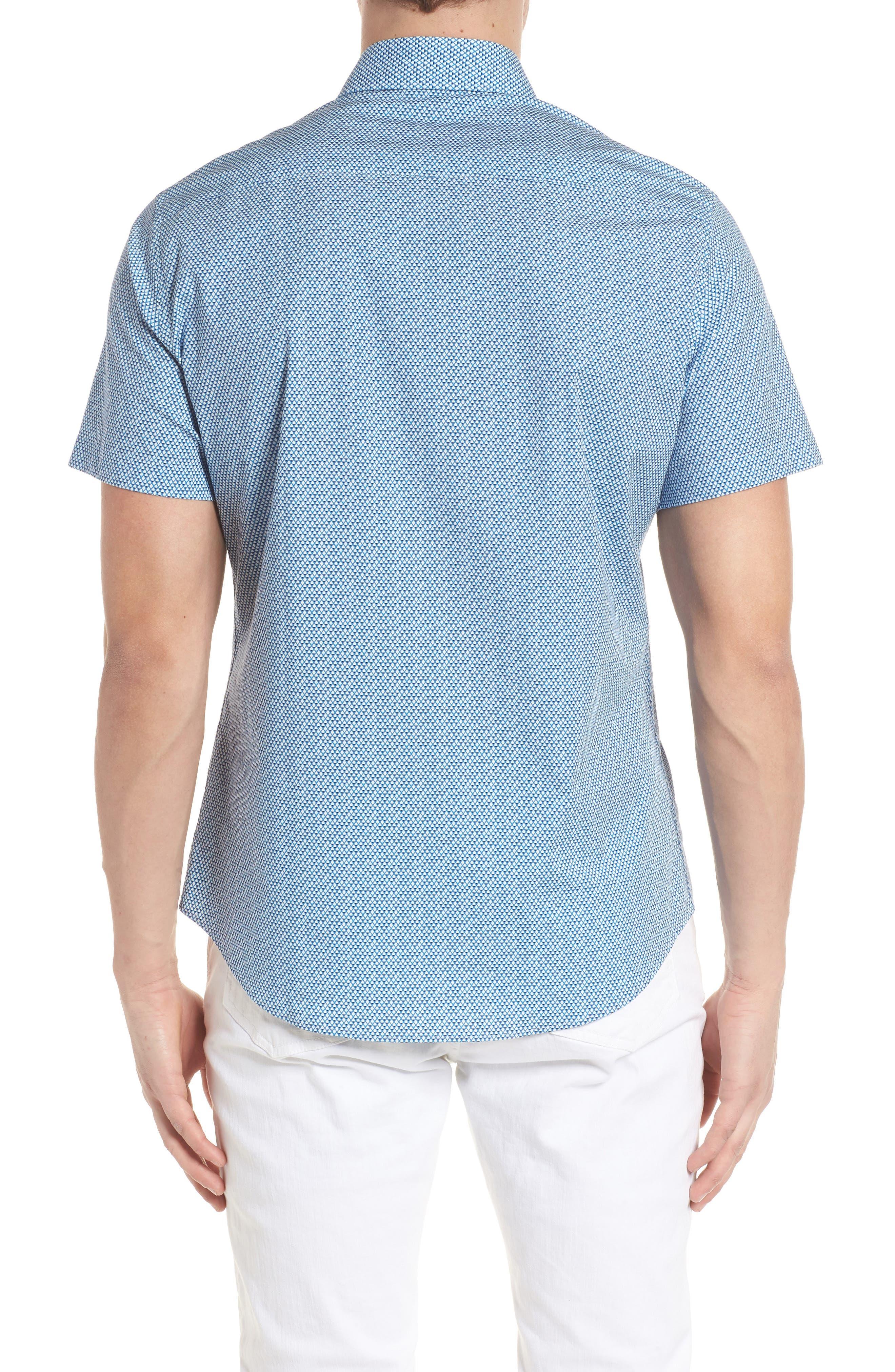 Slim Fit Diamond Print Sport Shirt,                             Alternate thumbnail 2, color,                             435