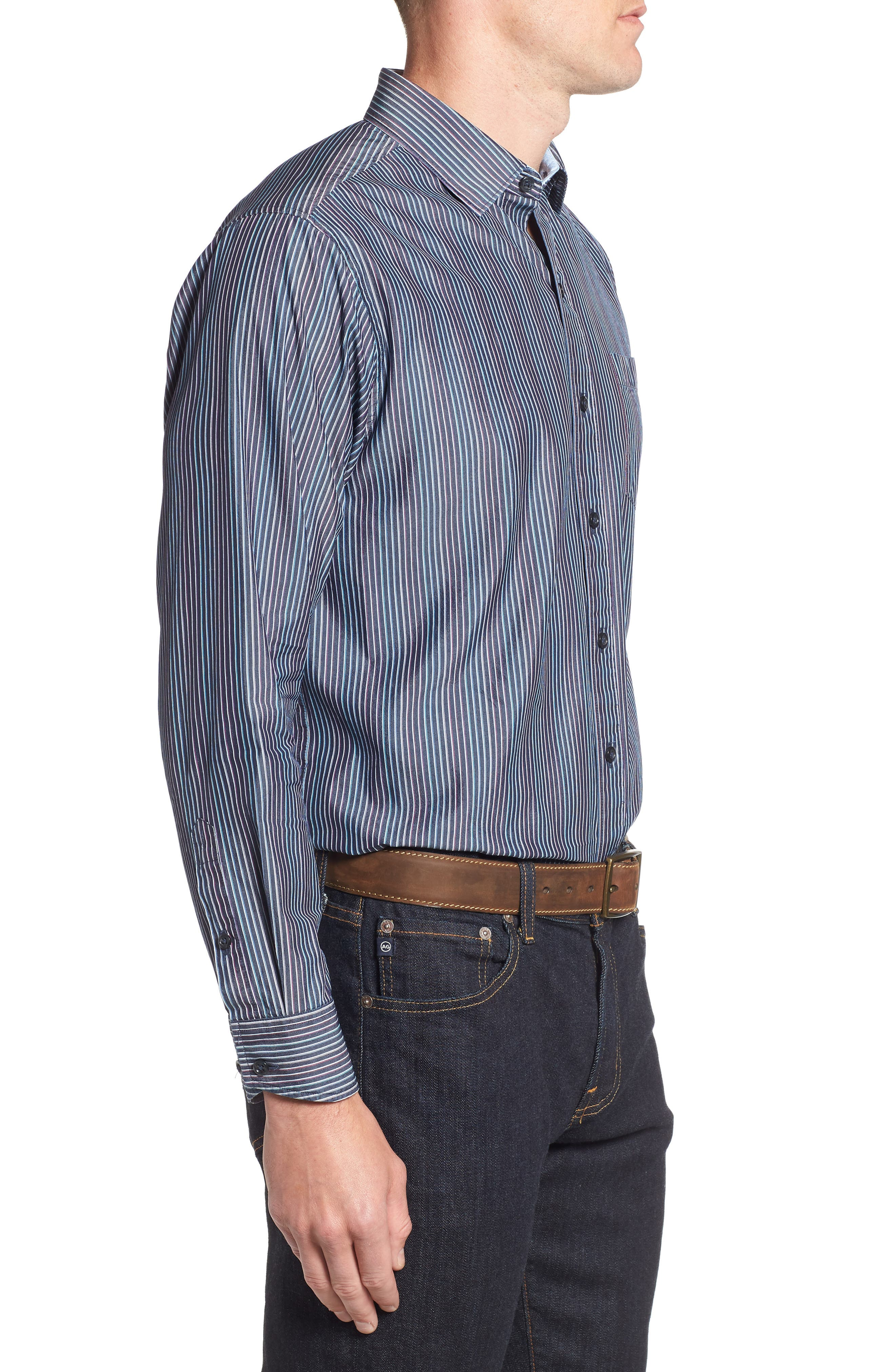 TOMMY BAHAMA,                             Paradiso Prism Stripe Sport Shirt,                             Alternate thumbnail 3, color,                             400