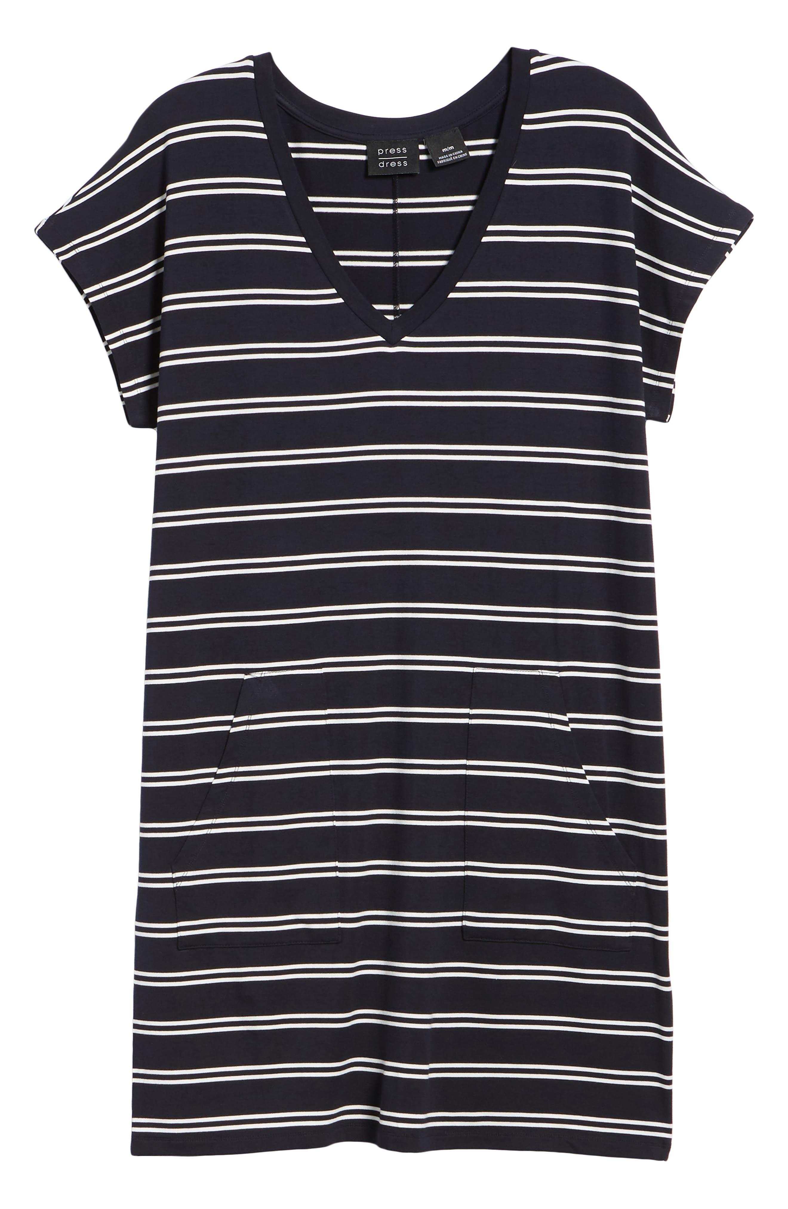 Stripe T-Shirt Dress,                             Alternate thumbnail 7, color,