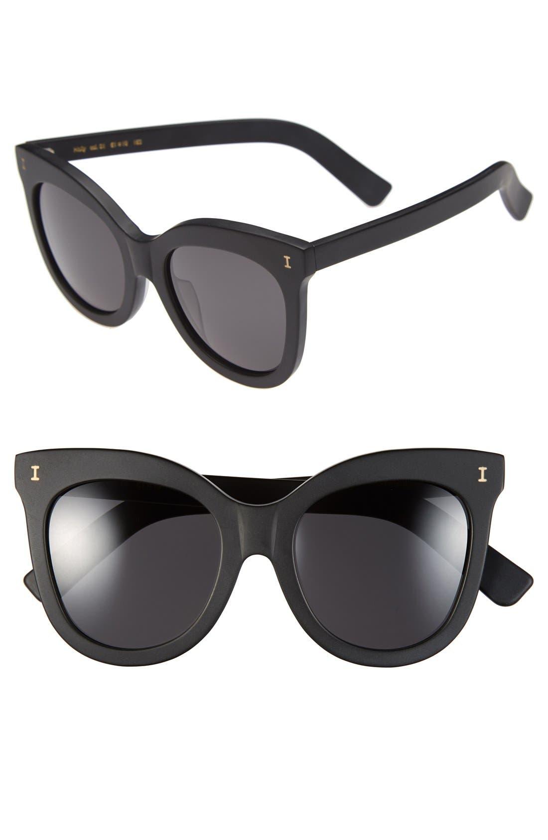 'Holly' 51mm Sunglasses,                             Main thumbnail 1, color,                             001