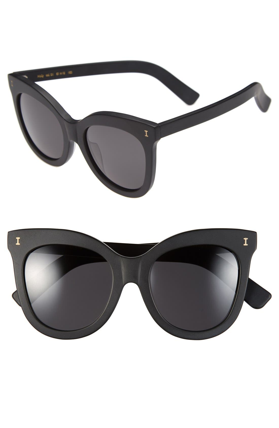 'Holly' 51mm Sunglasses, Main, color, 001