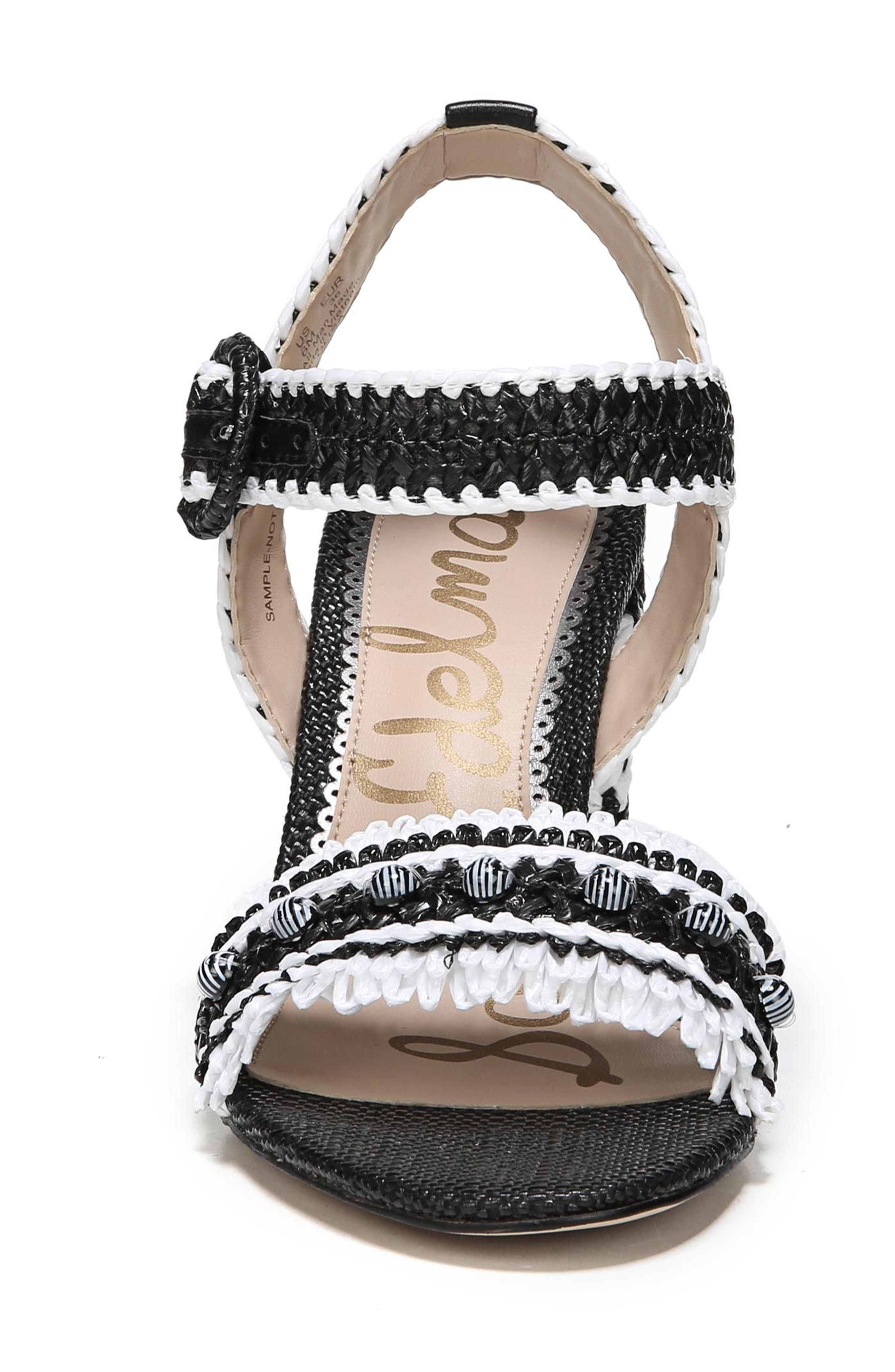 Olisa Block Heel Sandal,                             Alternate thumbnail 4, color,                             001