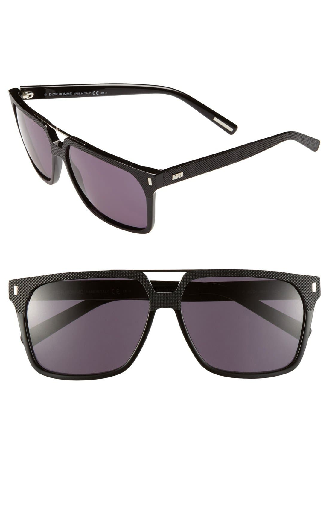 '134S' 58mm Sunglasses,                             Main thumbnail 1, color,                             BLACK