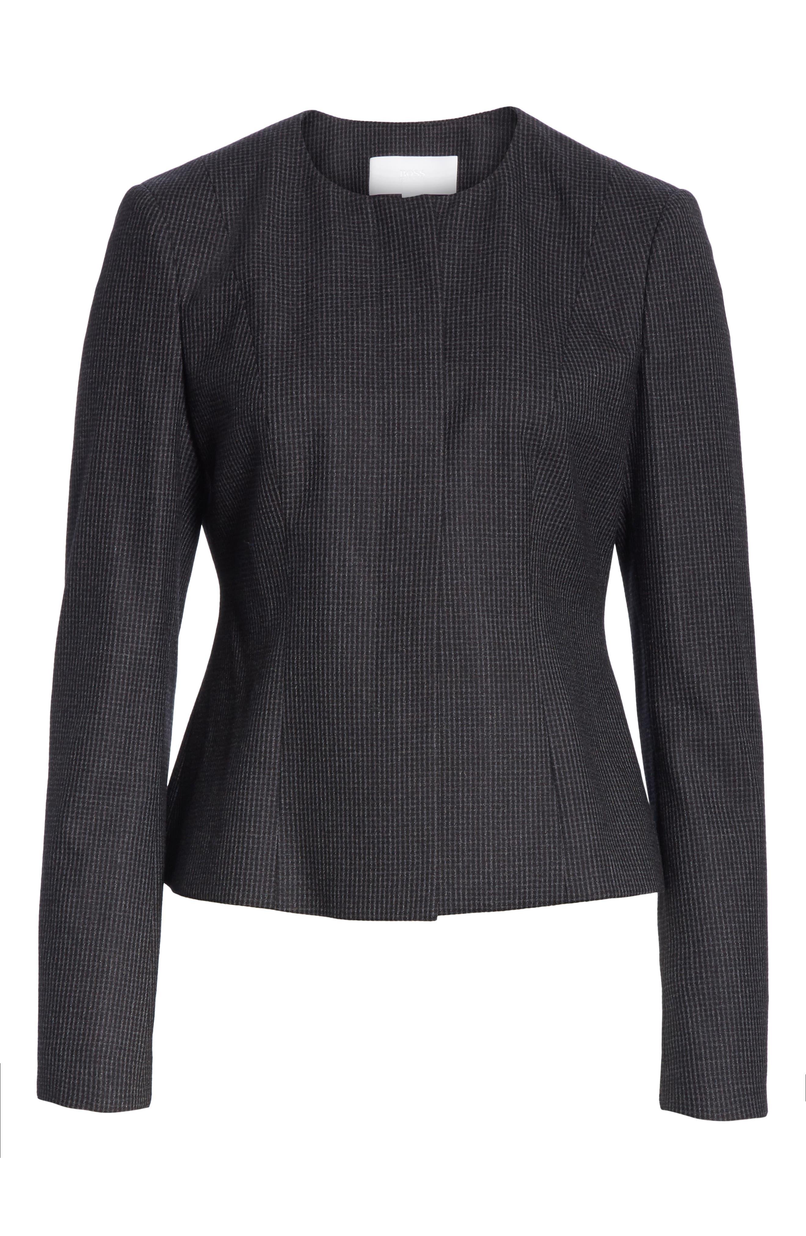 Javilla Wool Suit Jacket,                             Alternate thumbnail 5, color,                             CHARCOAL FANTASY