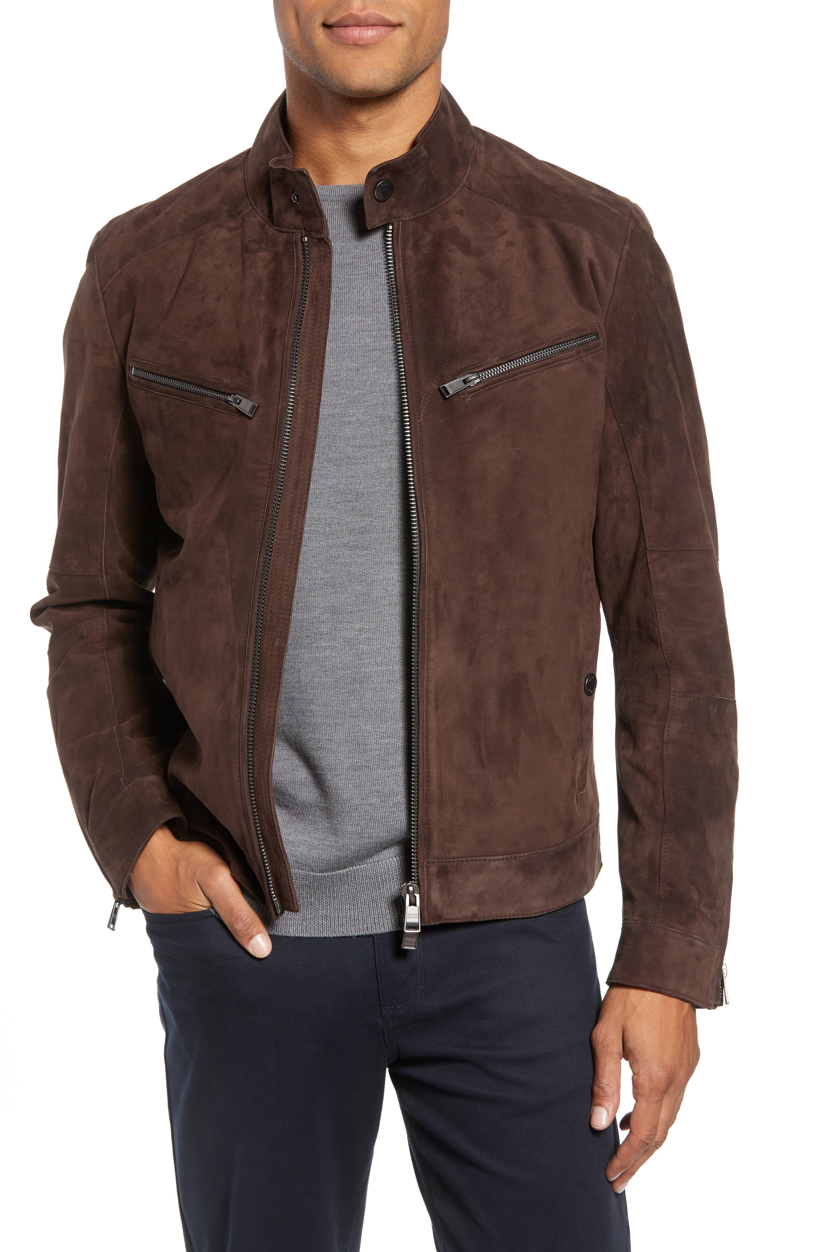 T-Nalok Suede Jacket,                         Main,                         color, 202