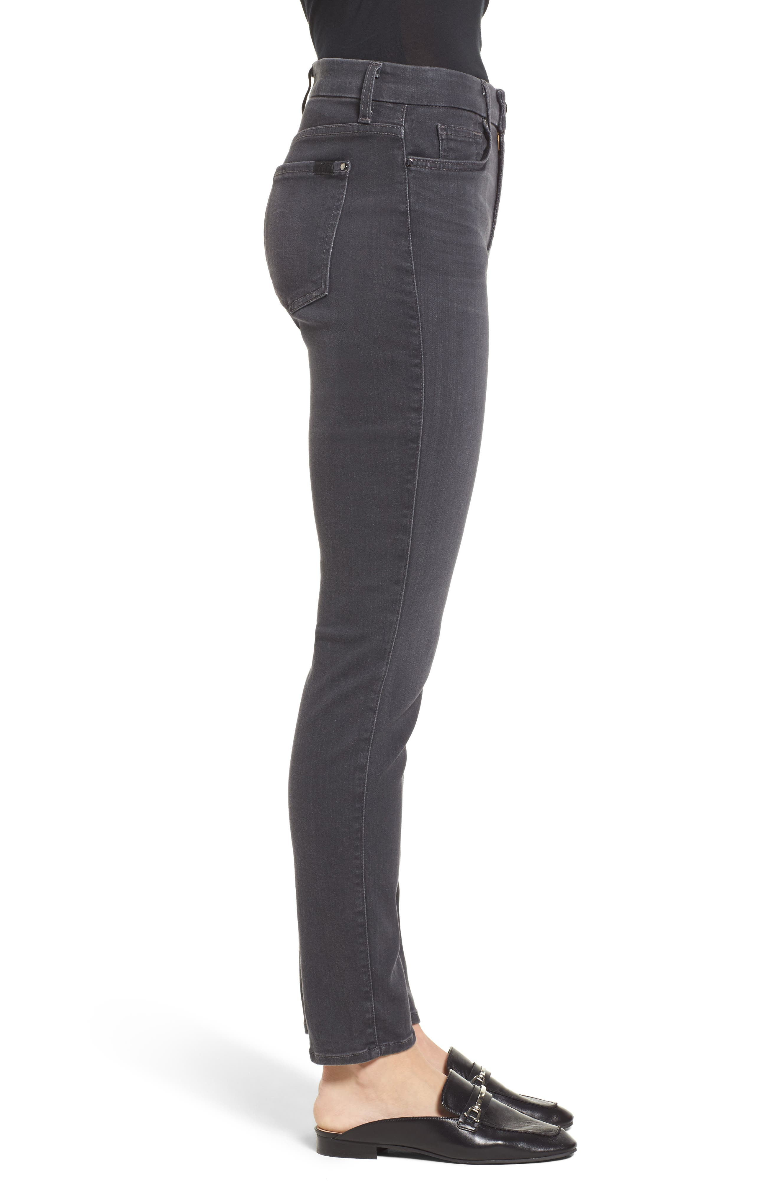 Stretch Skinny Jeans,                             Alternate thumbnail 4, color,                             CLEAN GREY