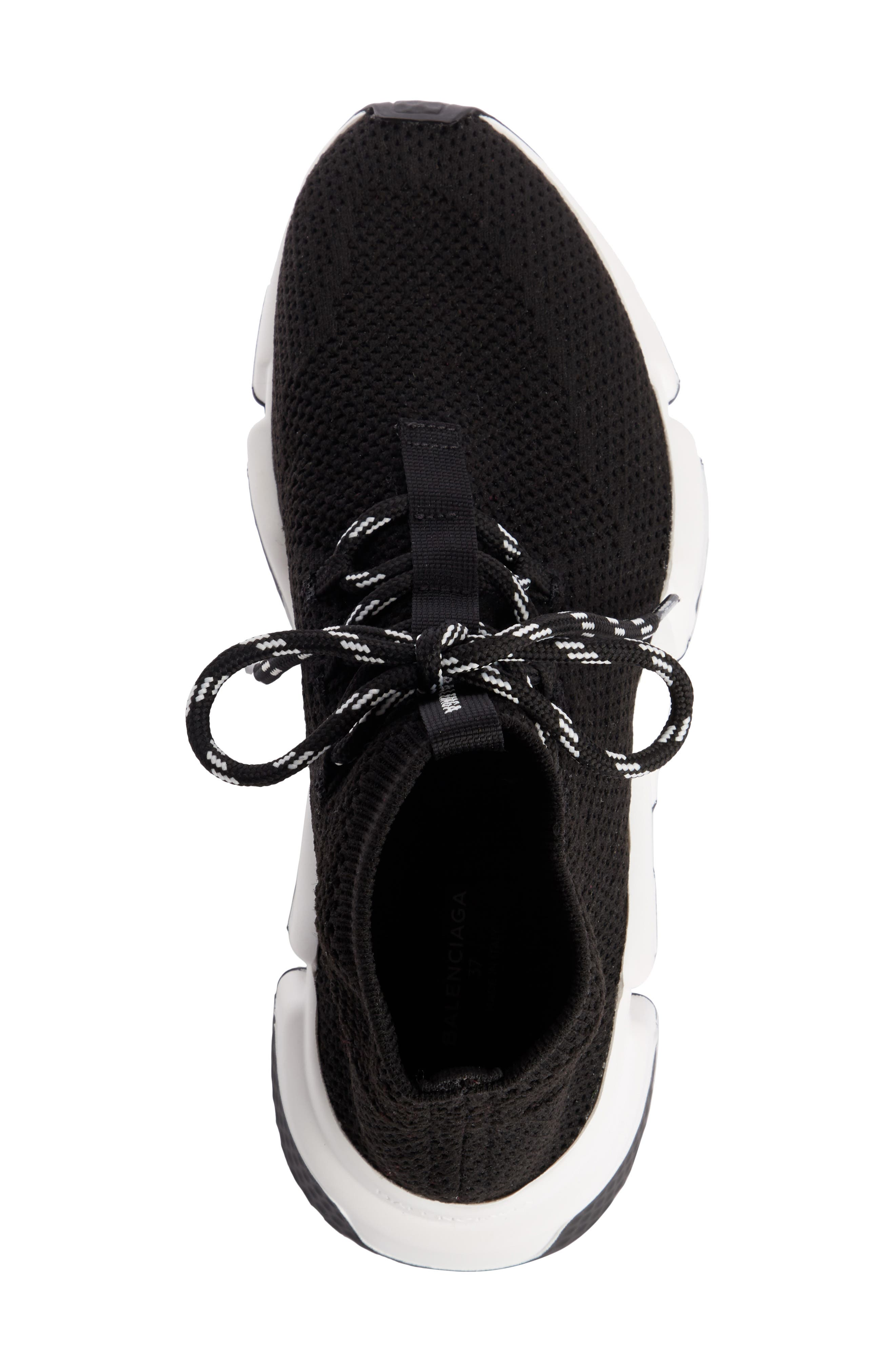 Low Speed Lace-Up Sneaker,                             Alternate thumbnail 4, color,                             BLACK