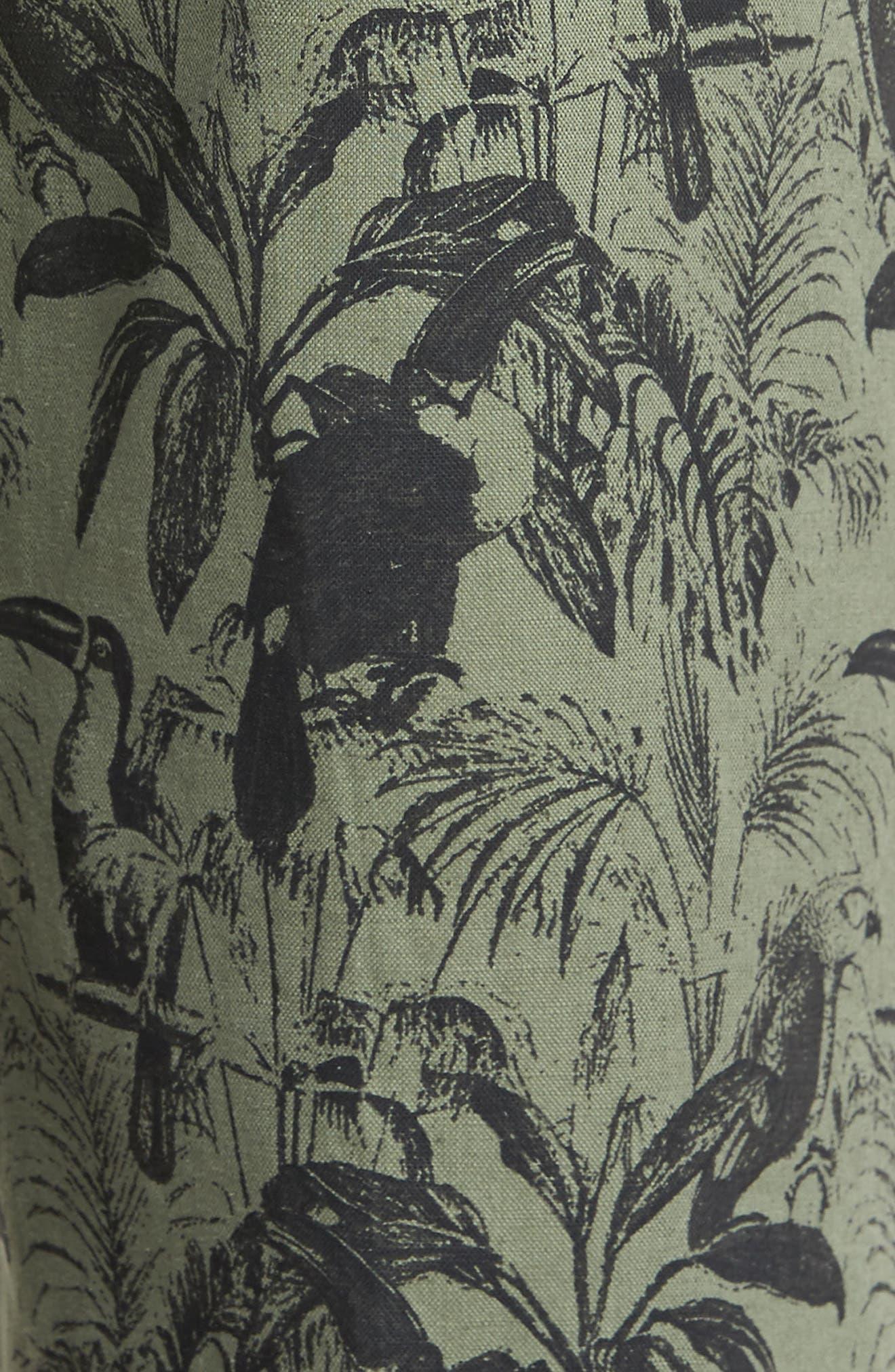 Foundation Print Slim Fit Trousers,                             Alternate thumbnail 4, color,                             300