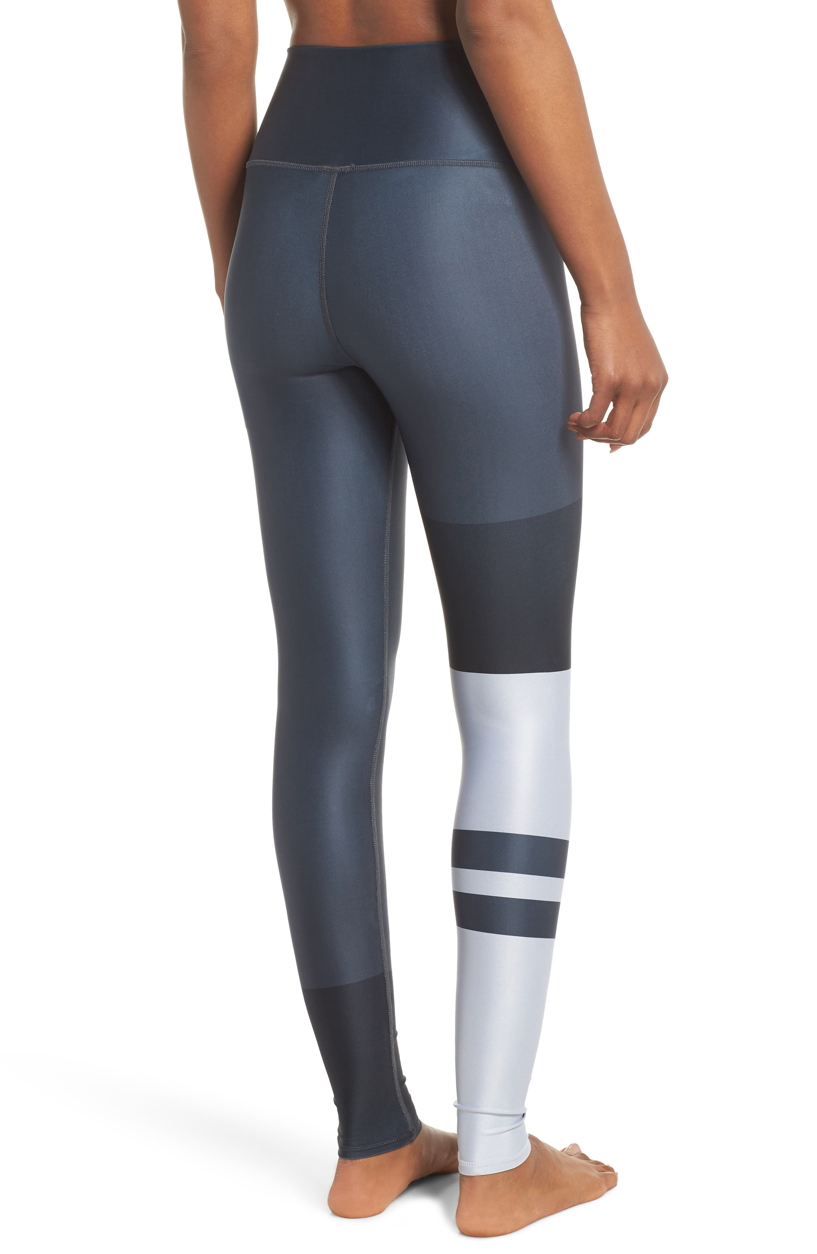 Airbrush High Waist Leggings,                             Alternate thumbnail 2, color,                             ANTHRACITE ZENITH