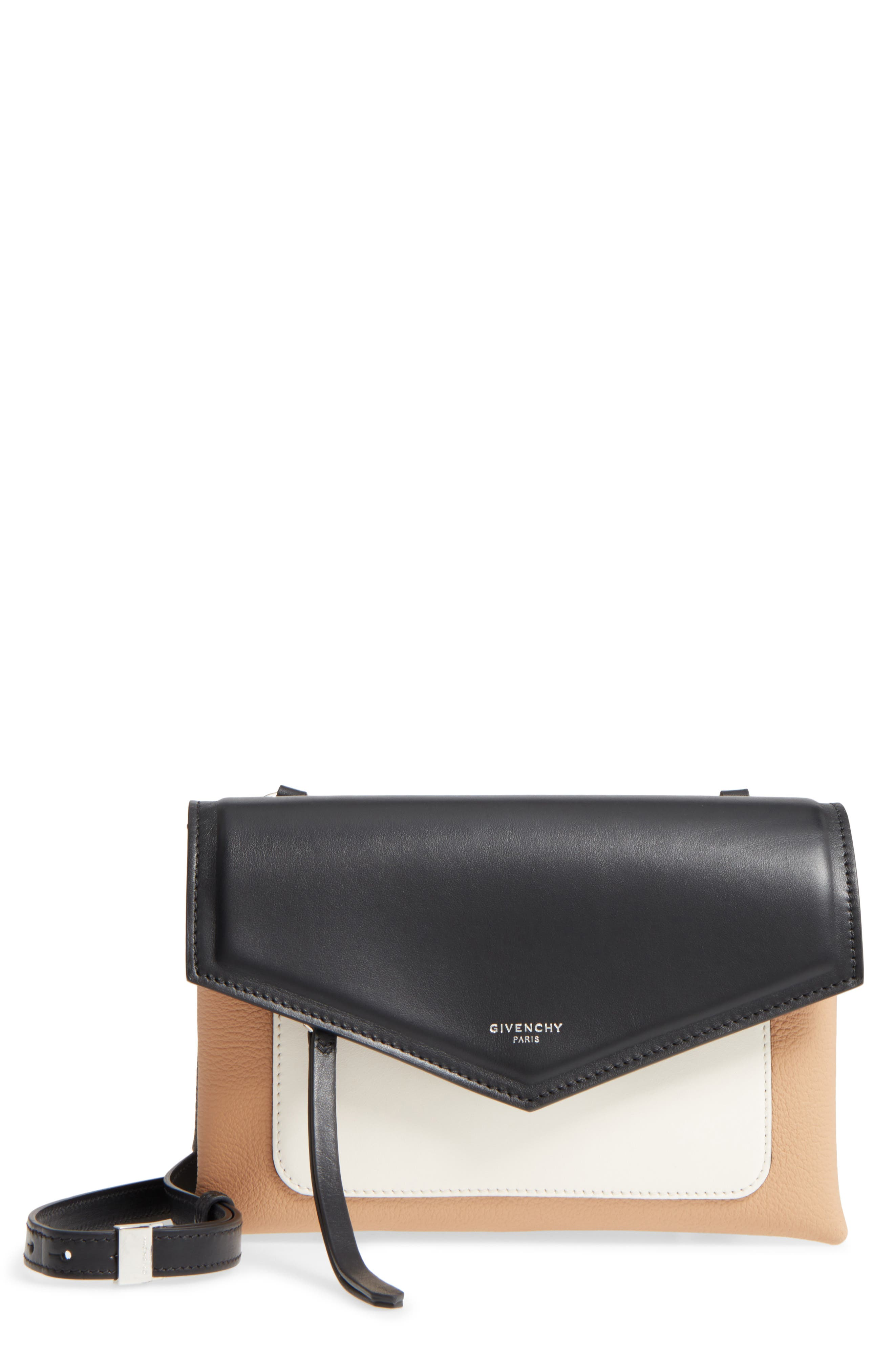 Duetto Tricolor Leather Flap Crossbody Bag,                         Main,                         color, 270
