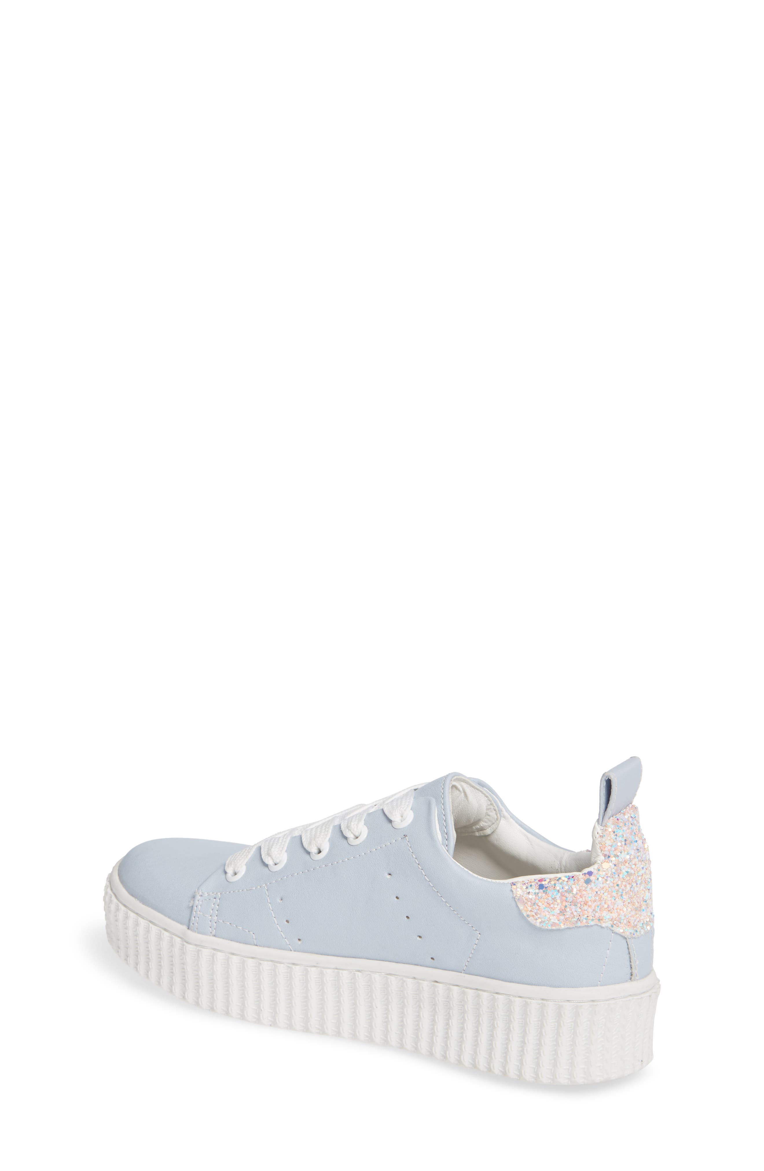 Wren Glitter Heel Sneaker,                             Alternate thumbnail 2, color,                             LIGHT BLUE