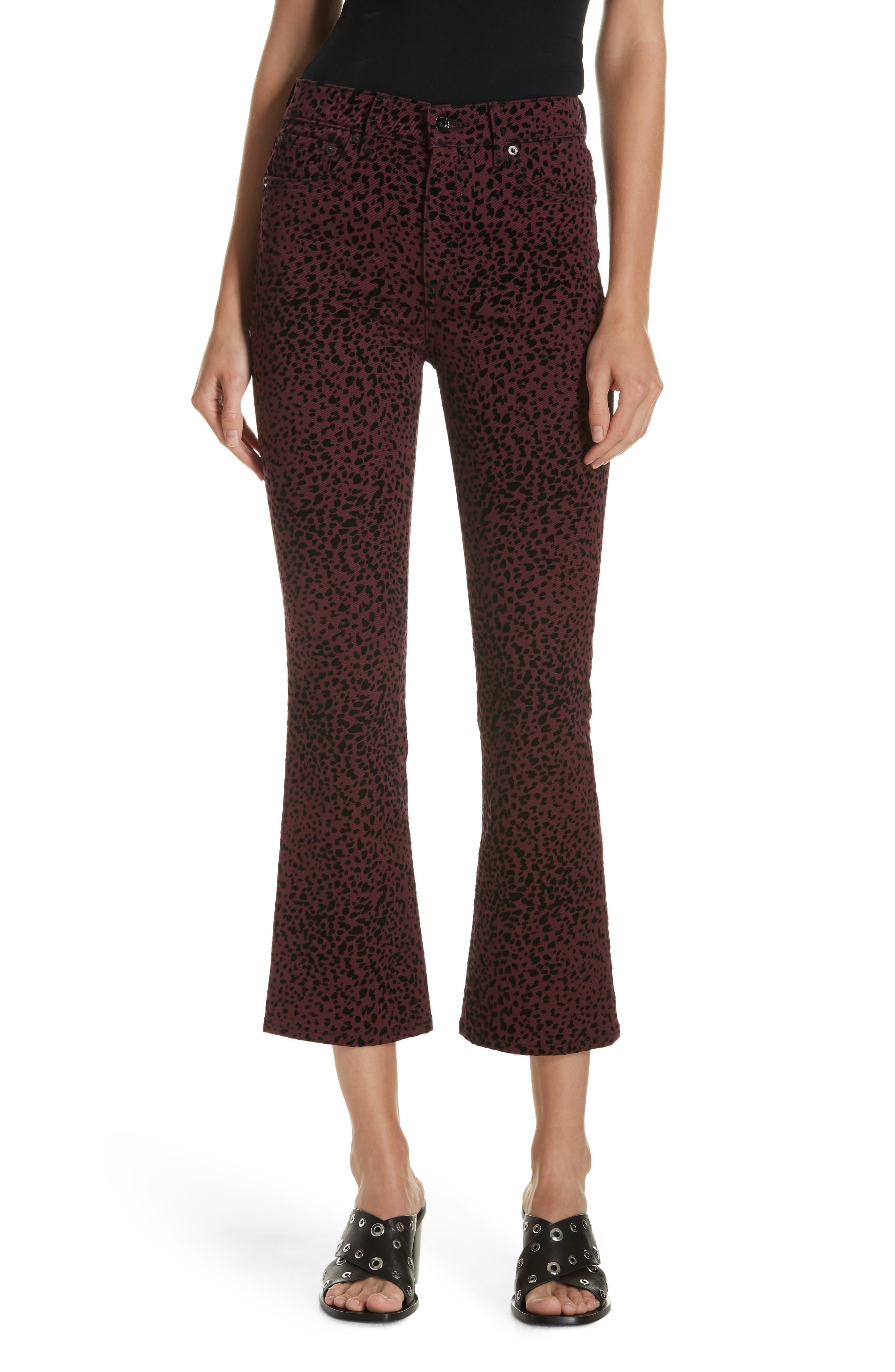 Hana High Waist Crop Flare Jeans,                             Main thumbnail 1, color,                             930