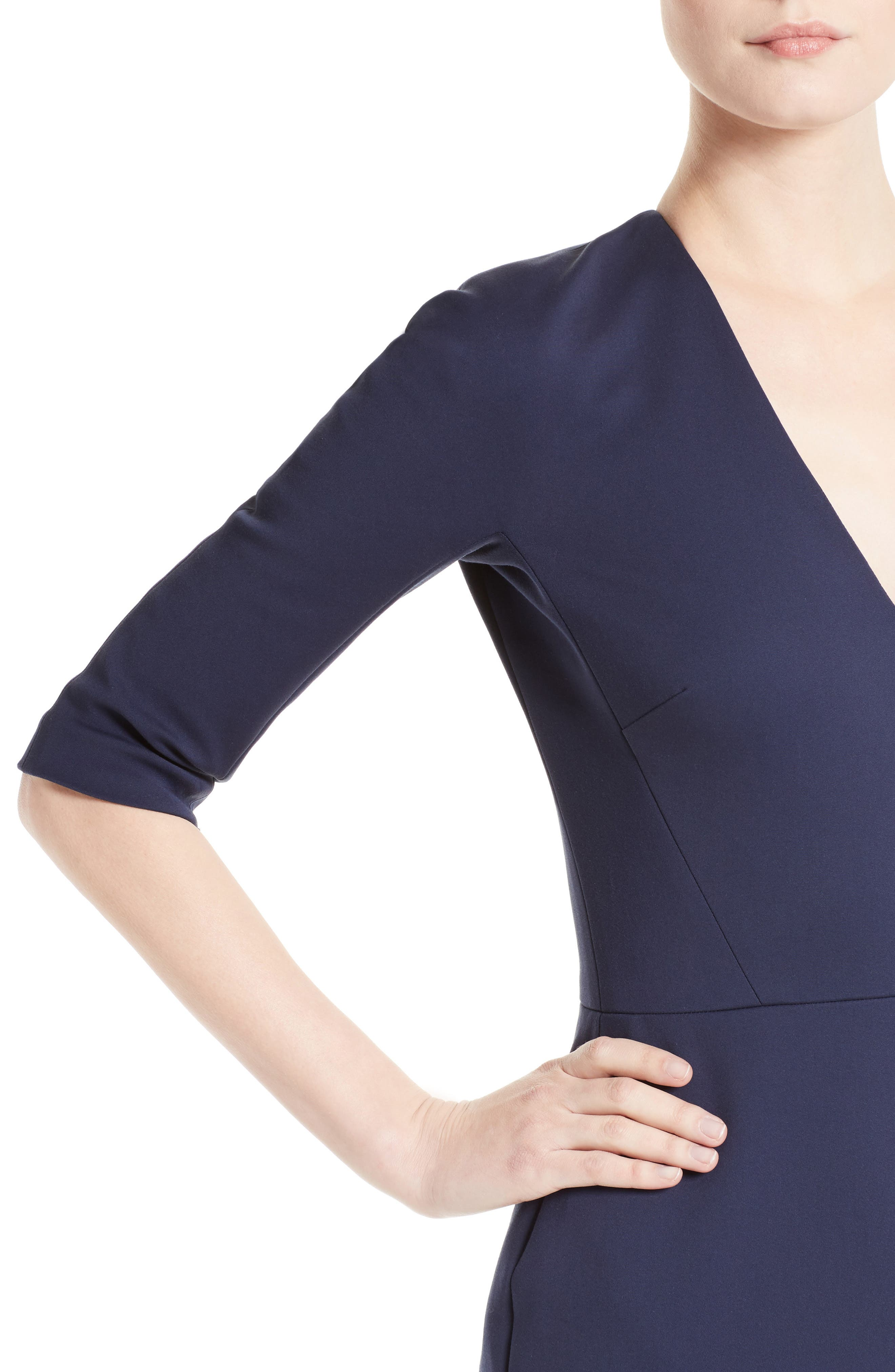 Cotton Blend Sheath Dress,                             Alternate thumbnail 4, color,                             400