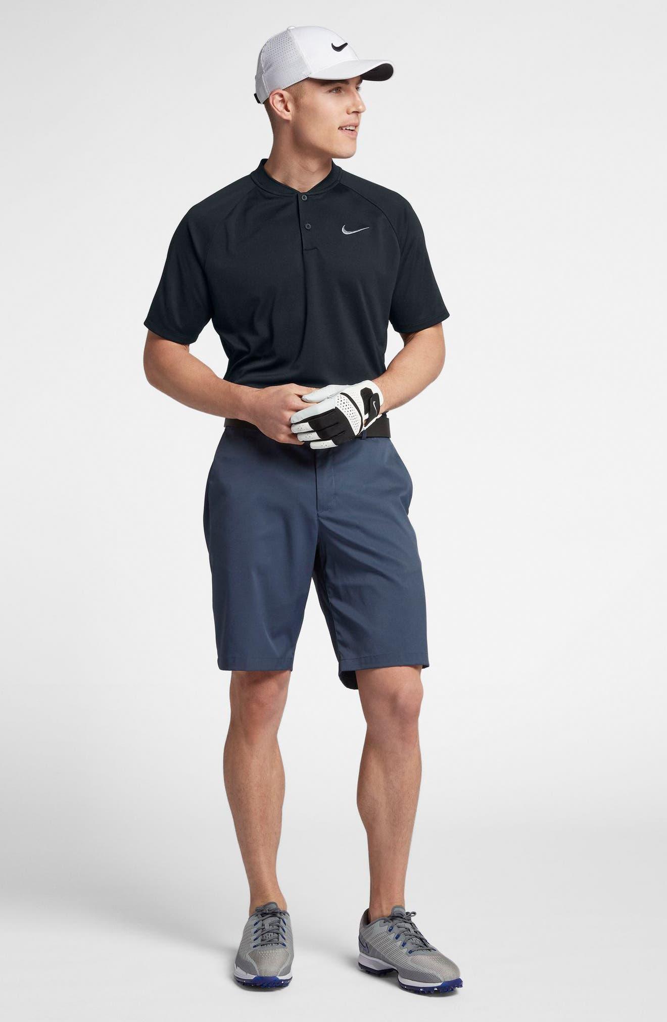 Dry Momentum Golf Polo,                             Alternate thumbnail 8, color,                             BLACK/ BLACK/ GUNSMOKE
