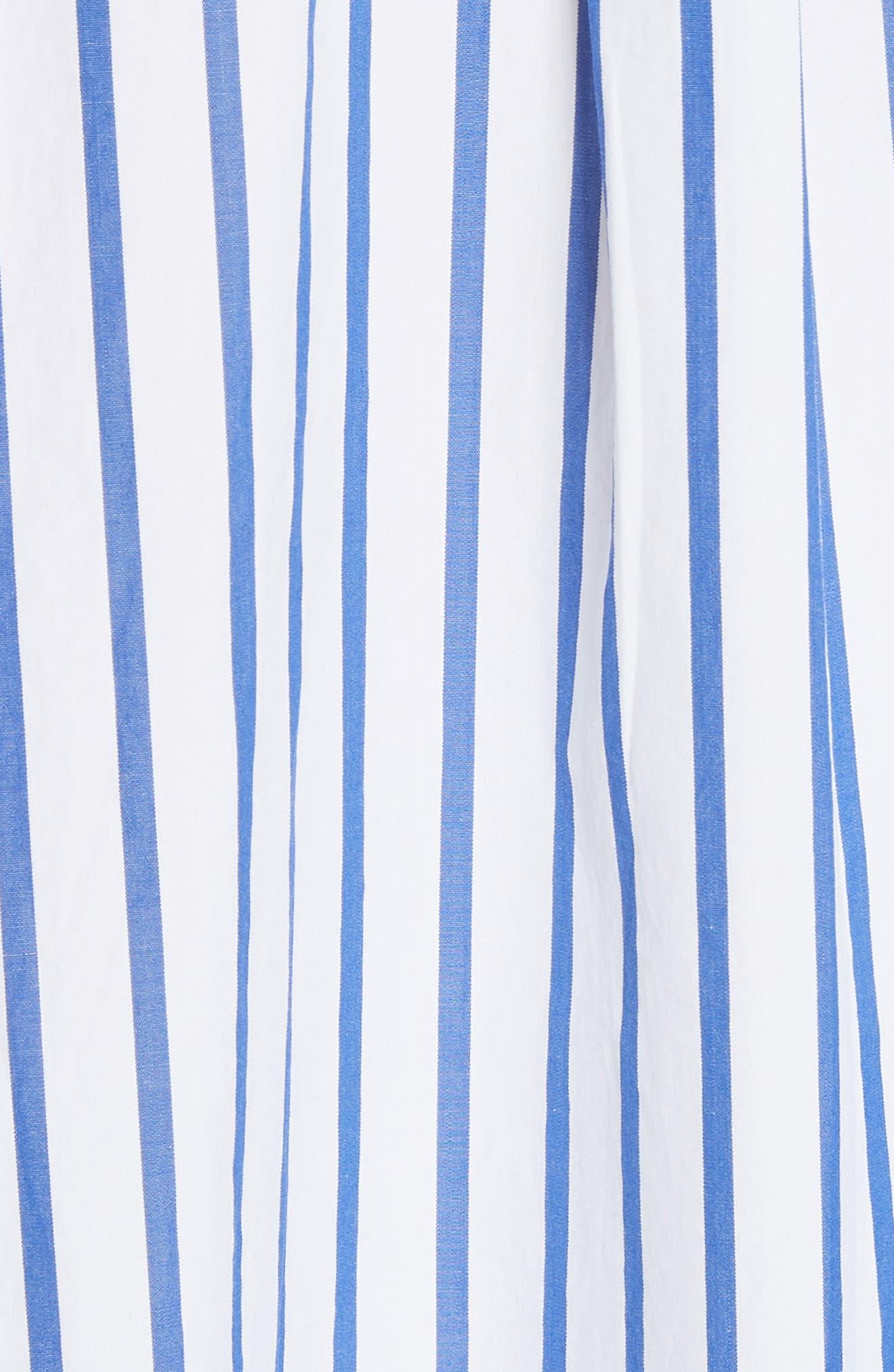 Oversize Stripe Woven Shirt,                             Alternate thumbnail 5, color,                             400