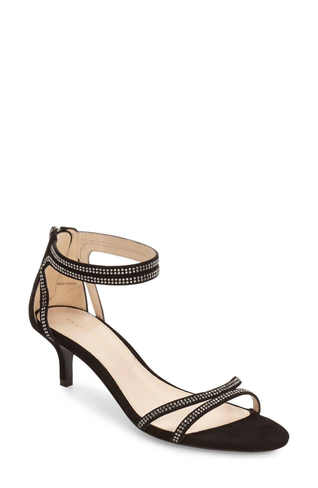 Fillis Ankle Strap Sandal,                             Main thumbnail 1, color,                             001