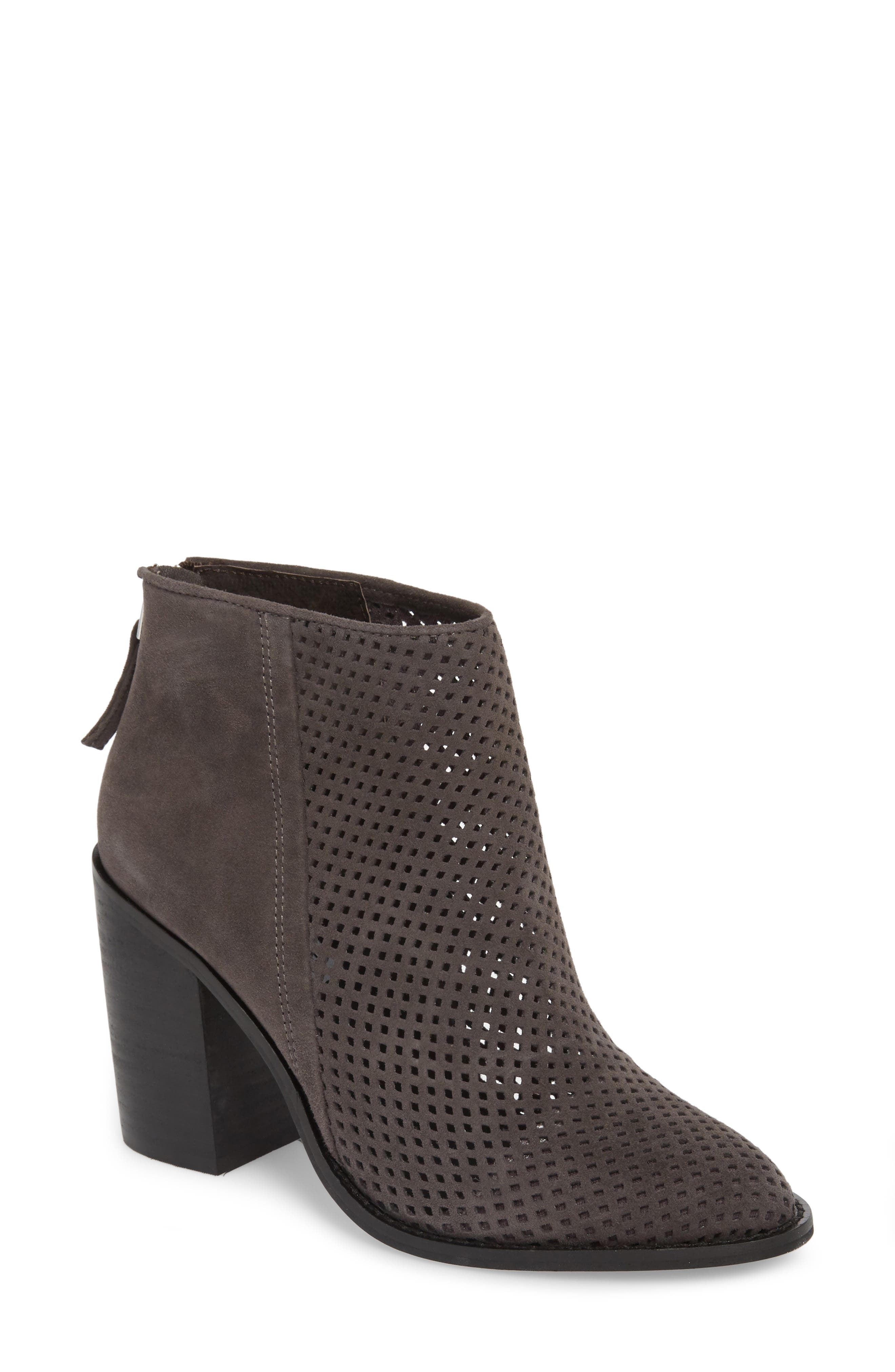 Steve Madden Rumble Perforated Bootie, Black