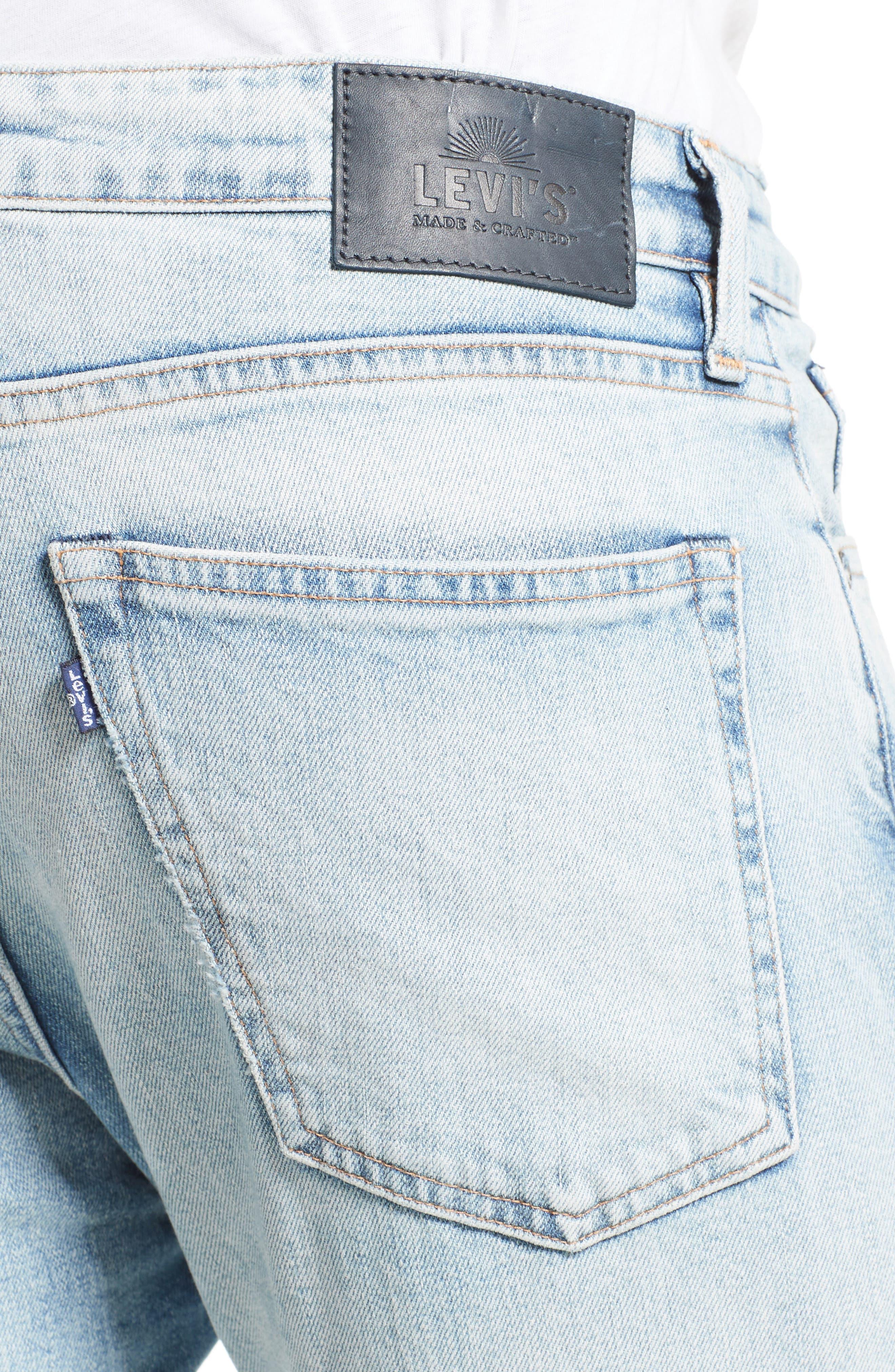 Tack Slim Fit Jeans,                             Alternate thumbnail 4, color,                             450