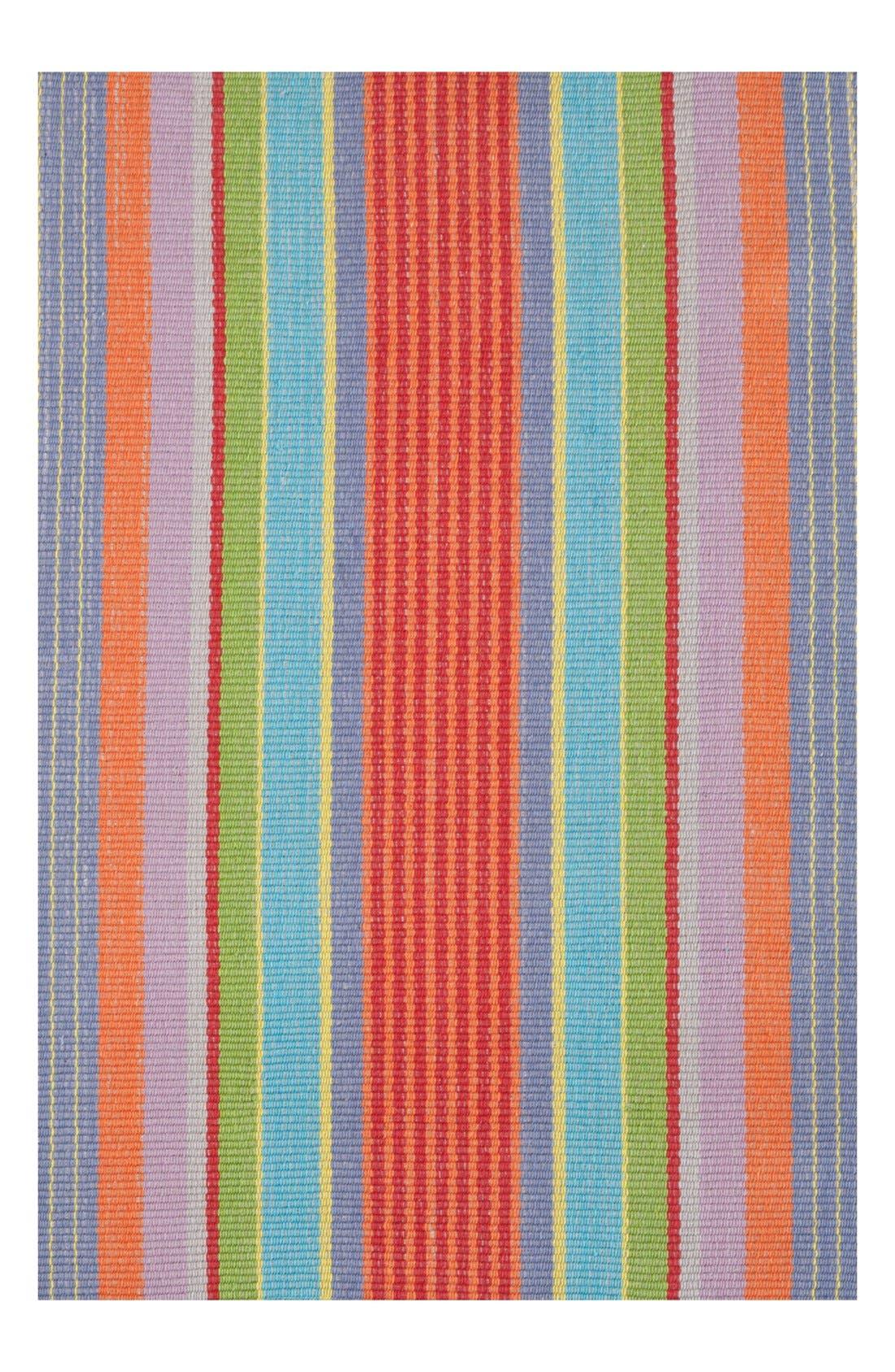 'Garden Stripe' Rug,                         Main,                         color, RED/ MULTI