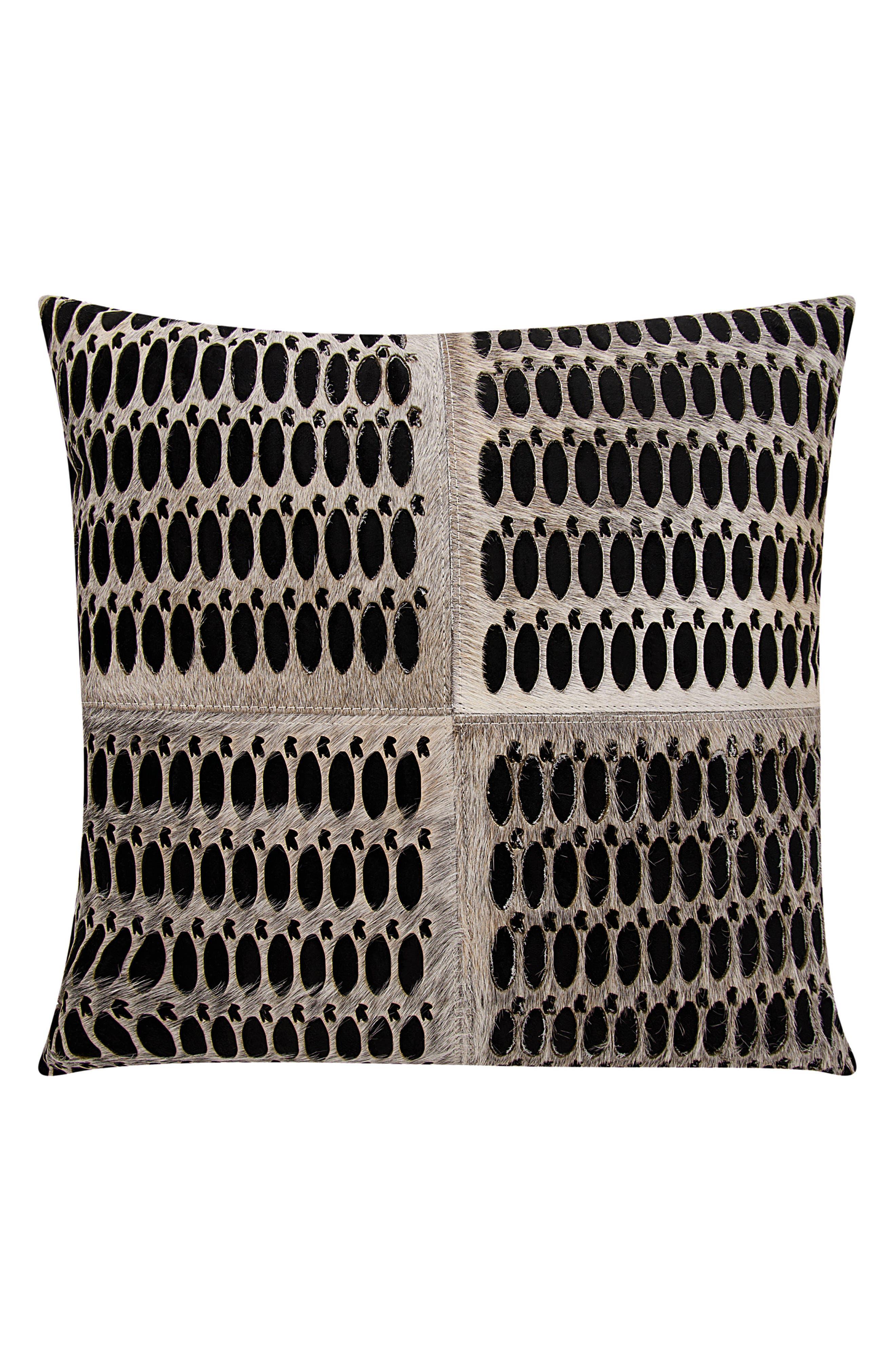 MINA VICTORY Calf Hair Accent Pillow, Main, color, 062