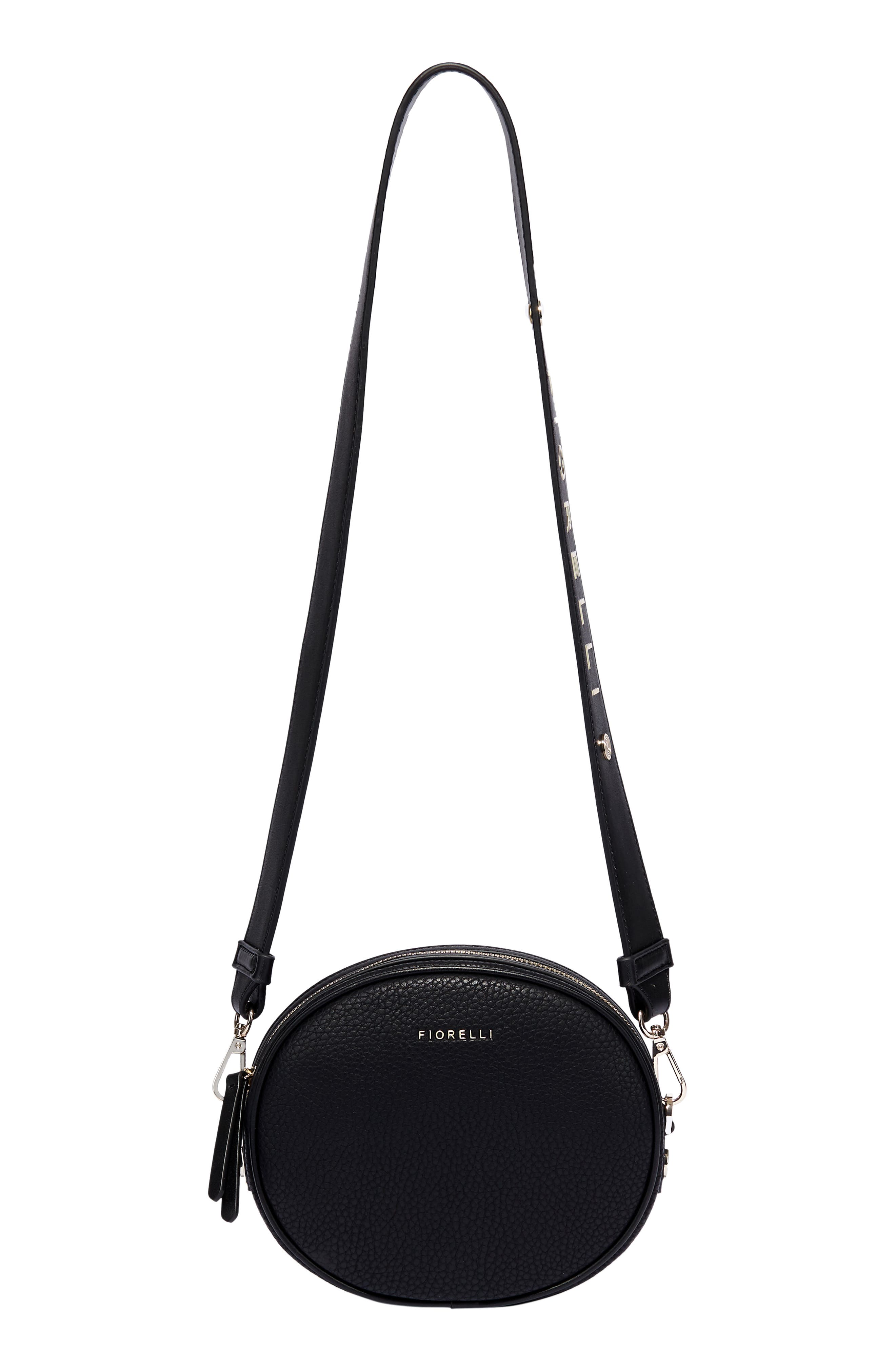 Boo Faux Leather Shoulder Bag,                             Alternate thumbnail 3, color,                             BLACK