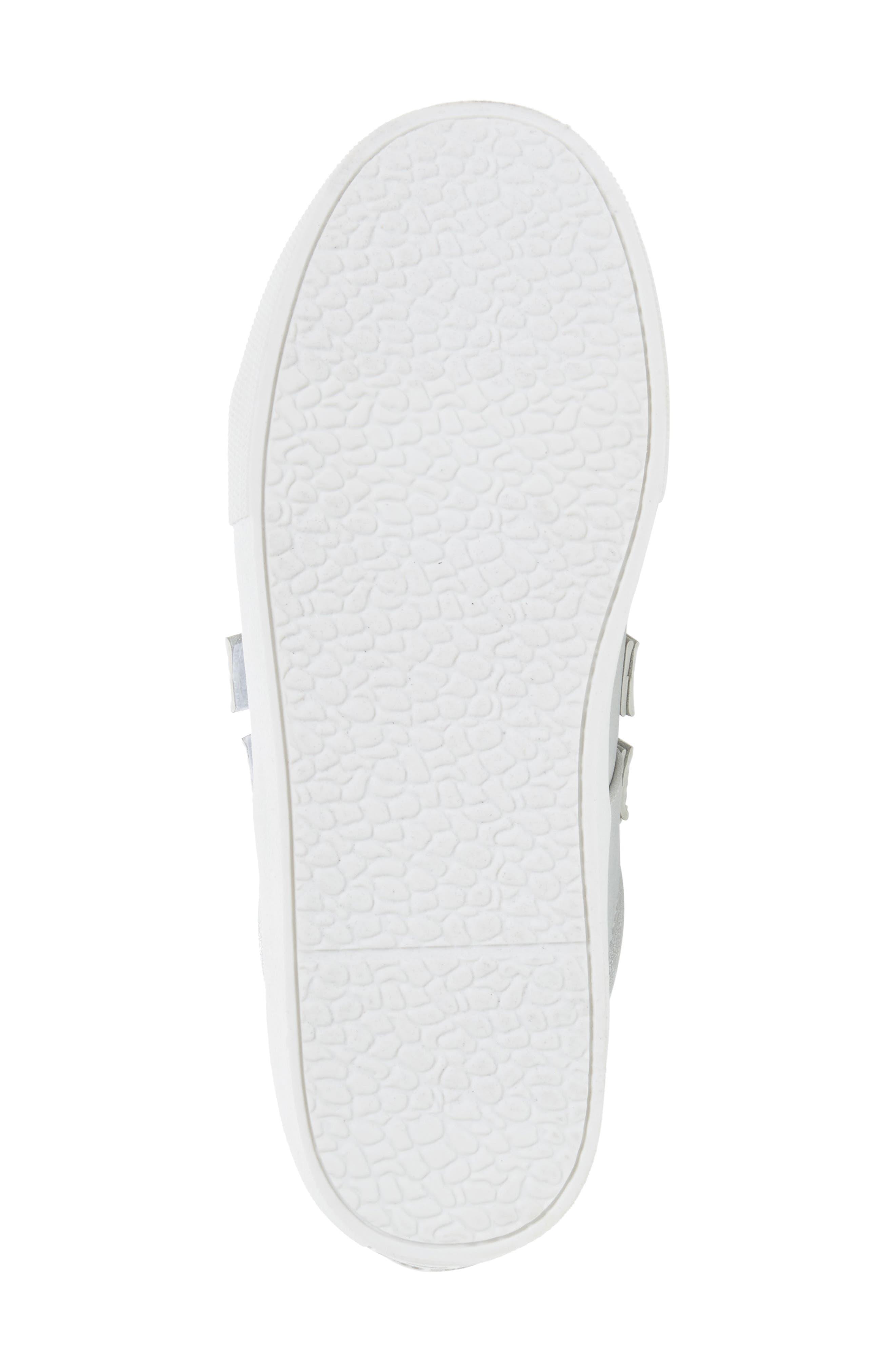 Kam Glitter Strap Sneaker,                             Alternate thumbnail 6, color,                             040