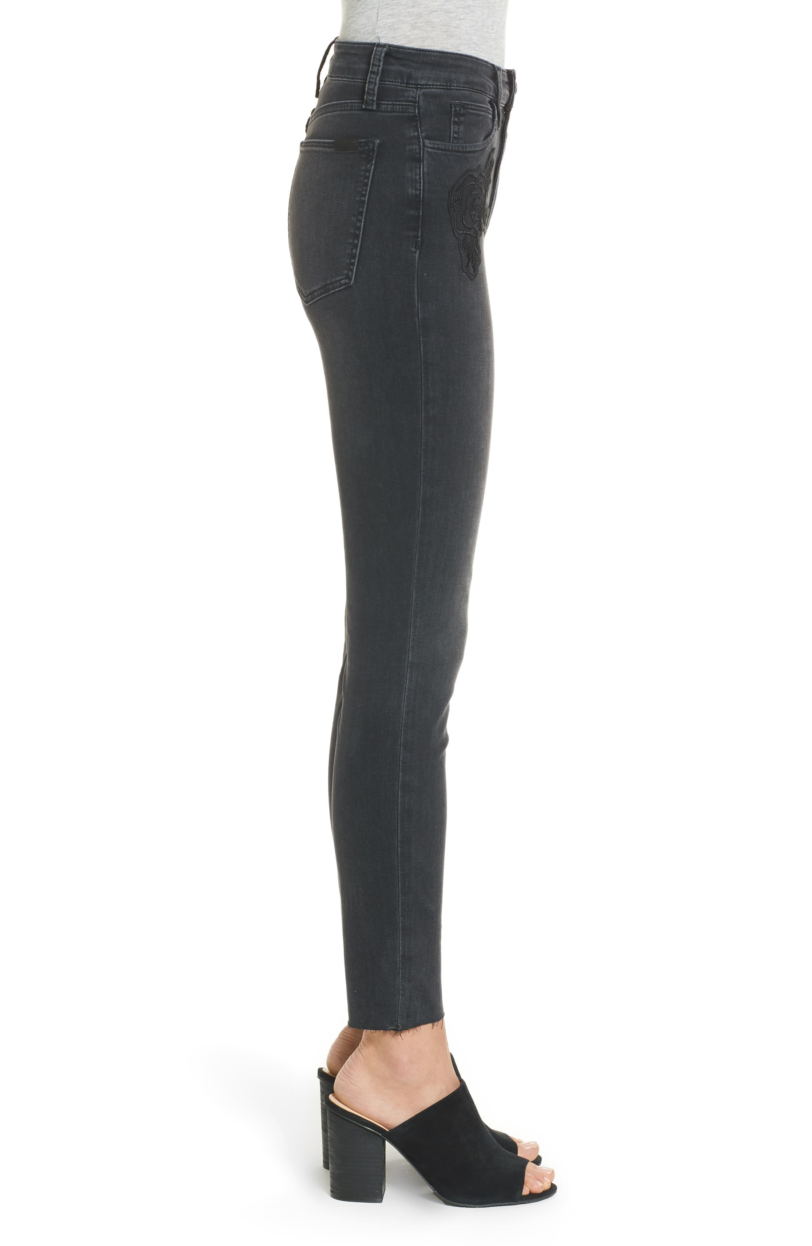 Charlie High Waist Ankle Skinny Jeans,                             Alternate thumbnail 3, color,                             003