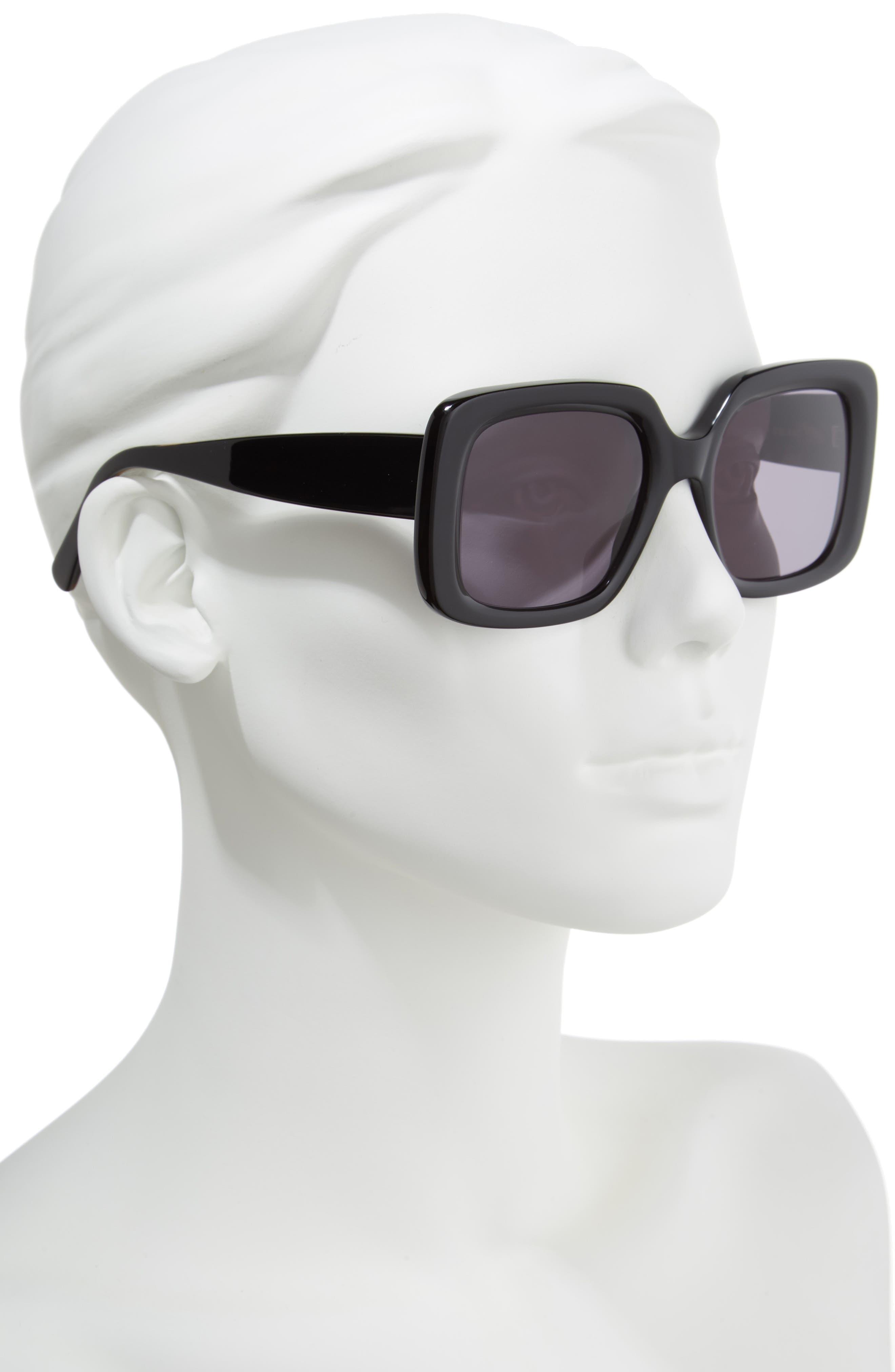 D'BLANC No Promises 53mm Sunglasses,                             Alternate thumbnail 2, color,                             001