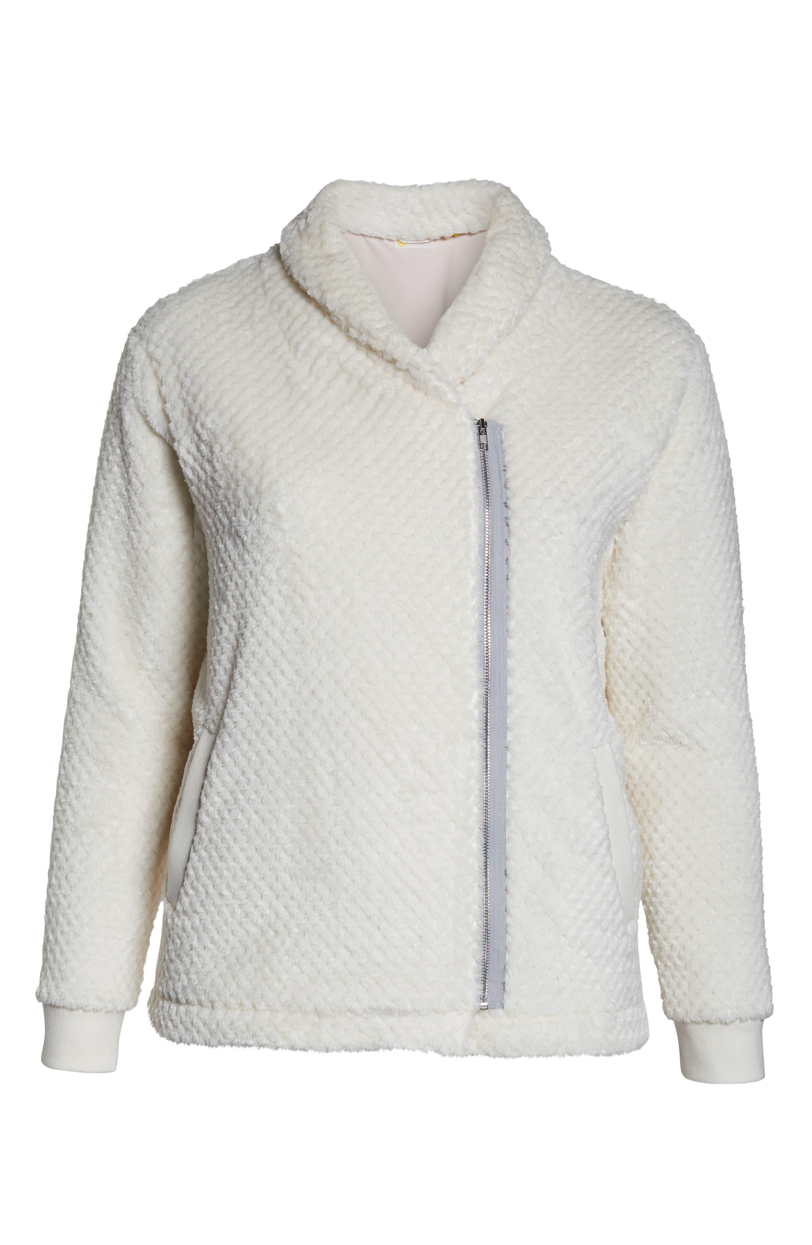 ZELLA,                             Diamond Fleece Jacket,                             Alternate thumbnail 9, color,                             IVORY CLOUD