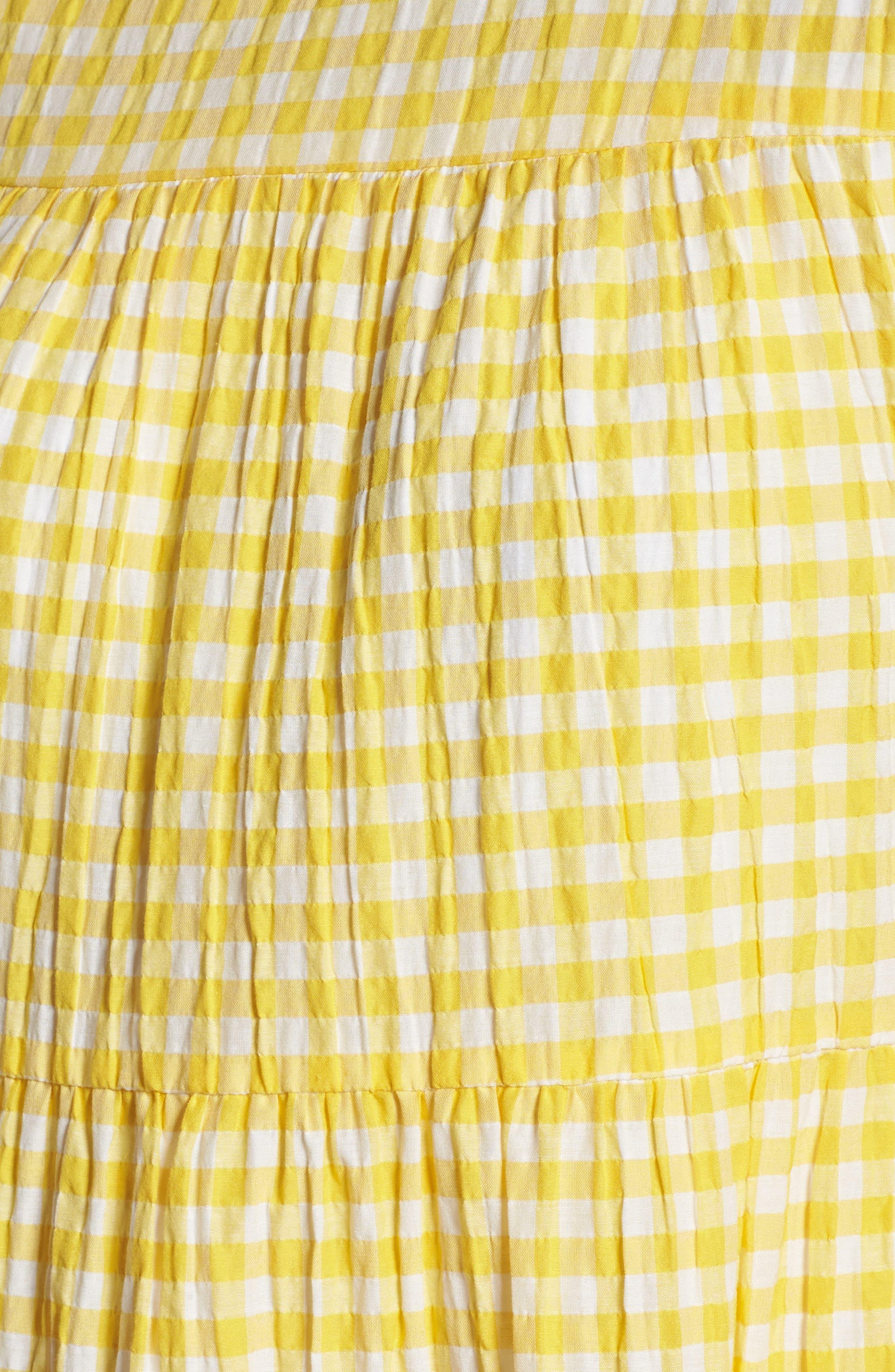 Gingham Swing Dress,                             Alternate thumbnail 5, color,                             740
