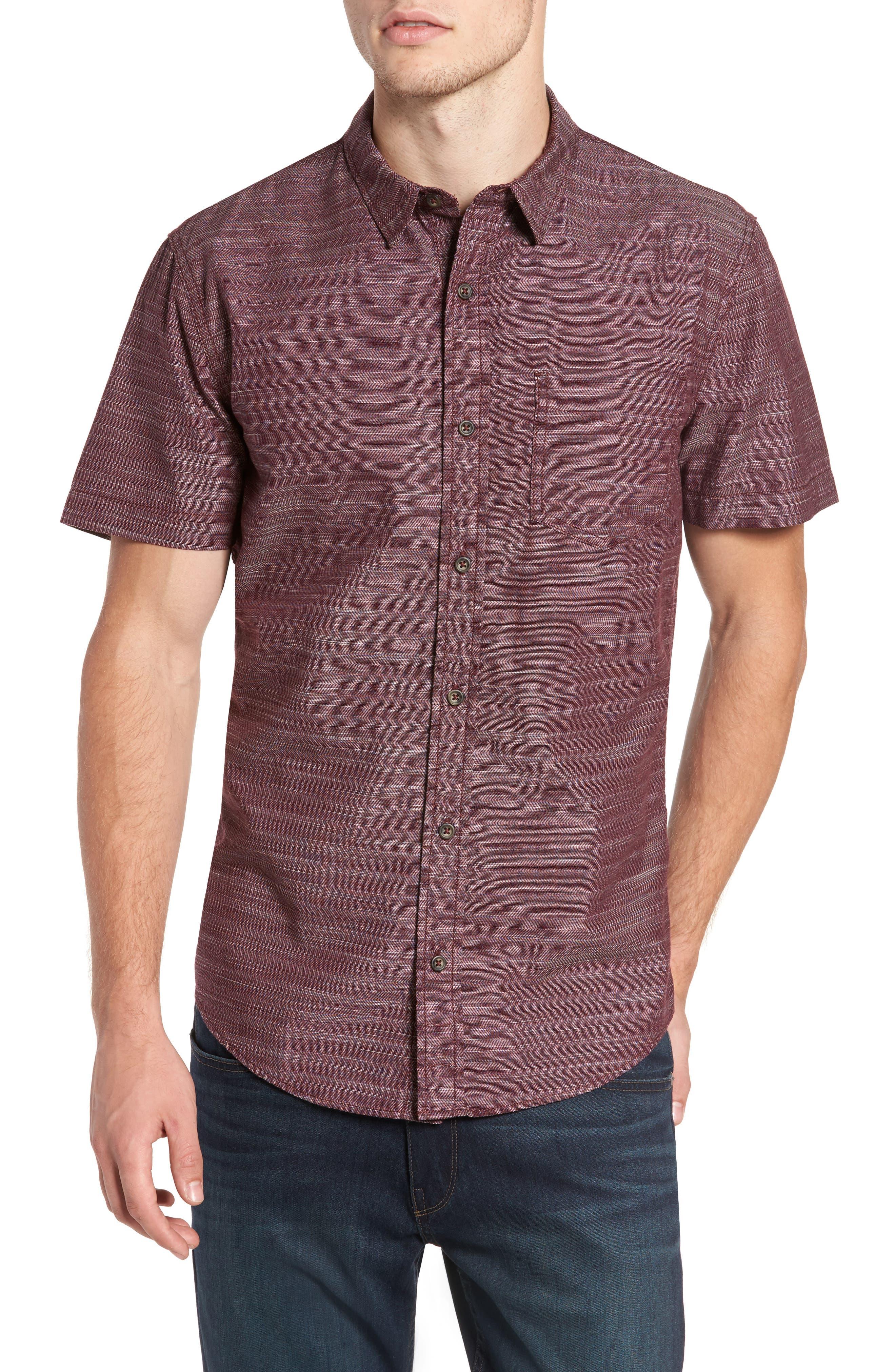 Herringbone Chambray Shirt,                             Main thumbnail 3, color,