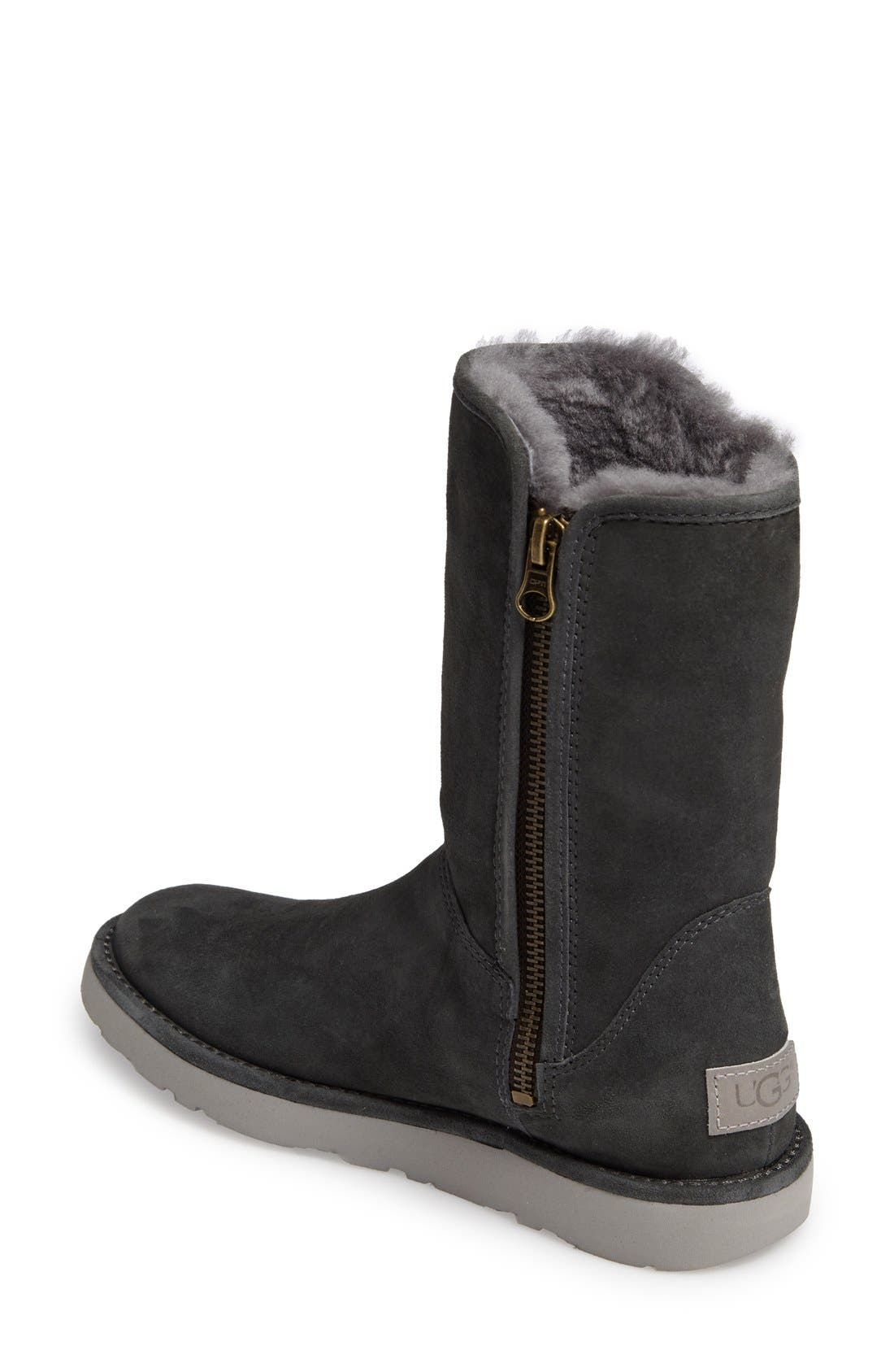 Abree II Short Boot,                             Alternate thumbnail 5, color,                             GRIGIO SUEDE