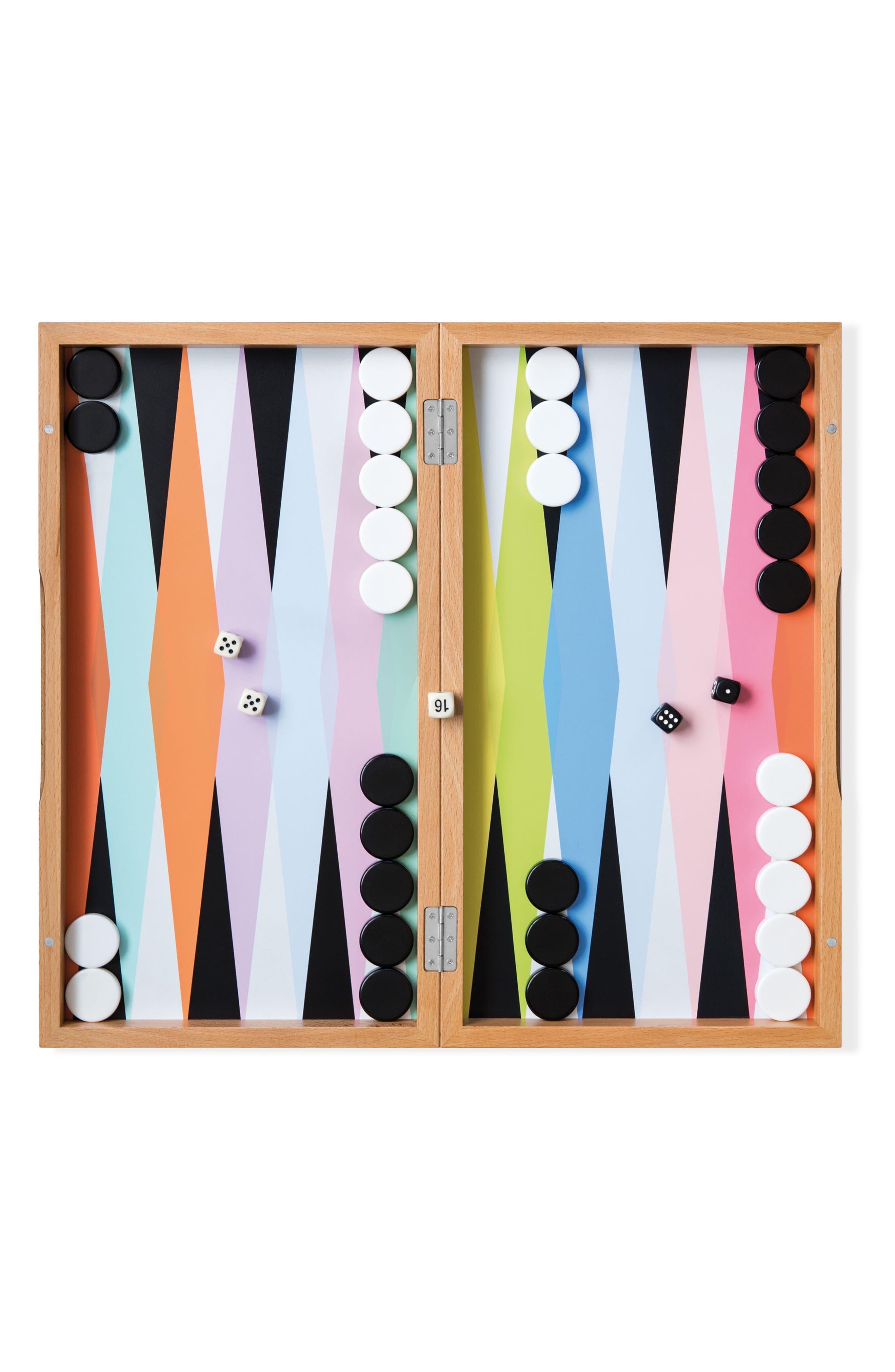 Colorful Backgammon Set,                             Alternate thumbnail 3, color,                             960