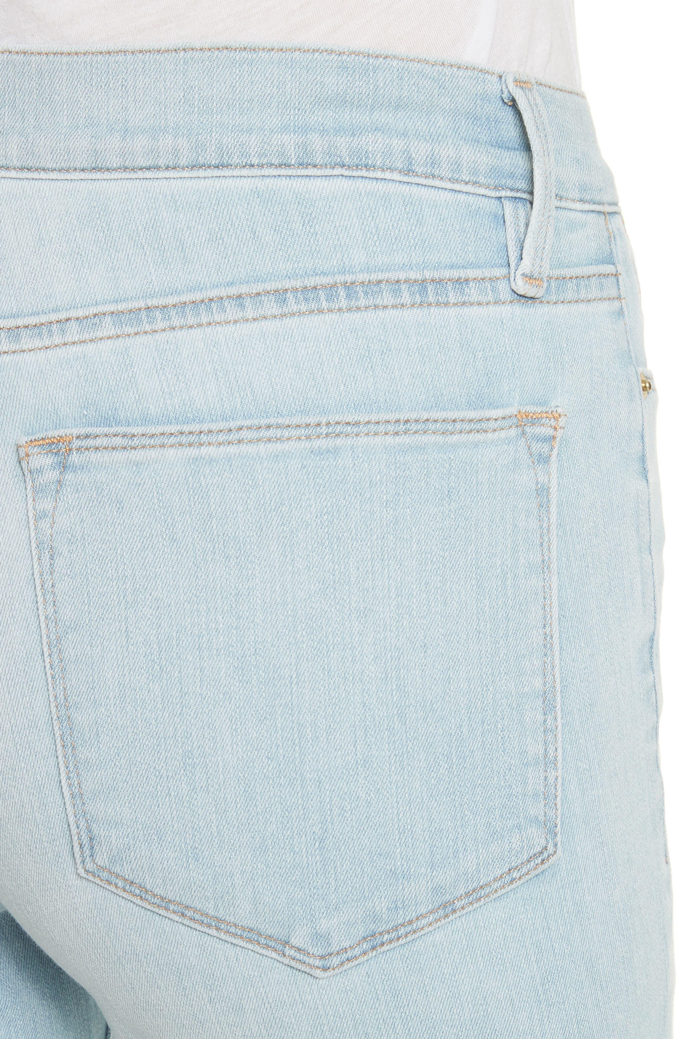 Le High Crop Straight Leg Jeans,                             Alternate thumbnail 4, color,                             450