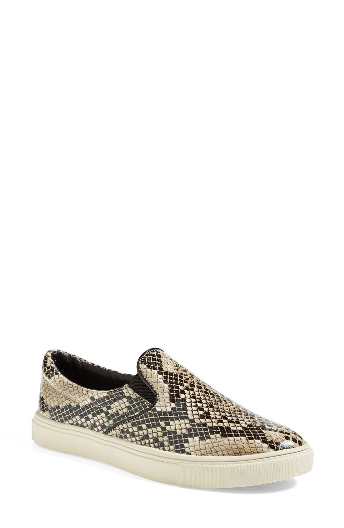 'Ecntrc-c' Snake-Embossed Slip-On Sneaker,                             Main thumbnail 2, color,