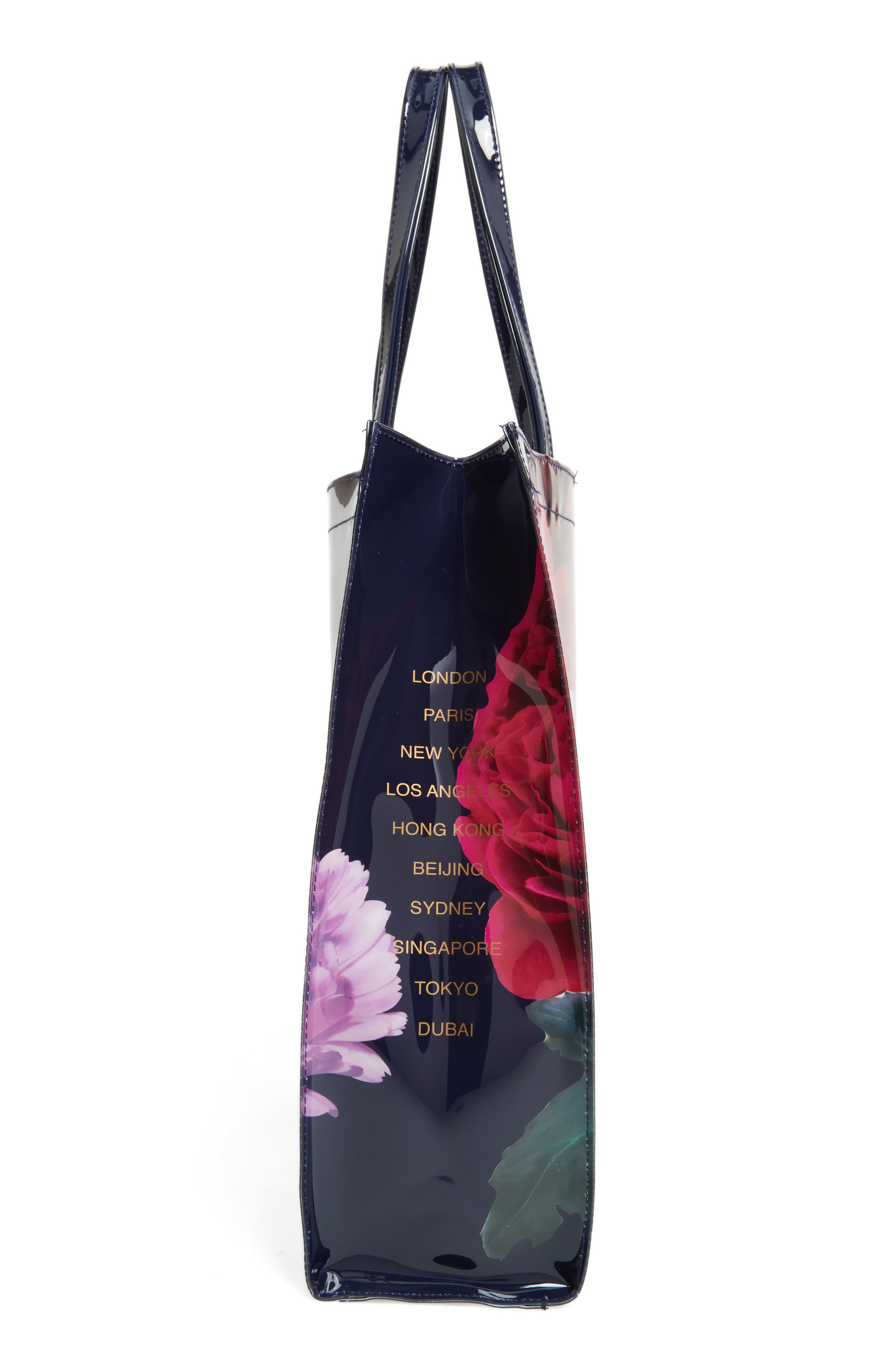 TED BAKER LONDON,                             Blushing Bouquet Large Icon Tote,                             Alternate thumbnail 6, color,                             410