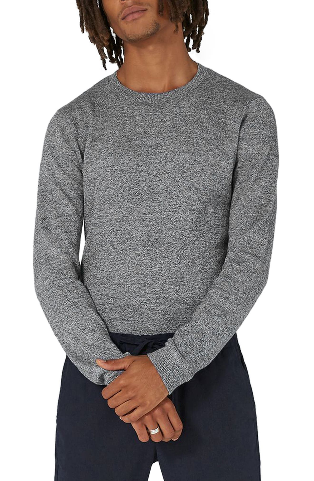 Side Ribbed Slim Fit Sweater,                             Main thumbnail 2, color,