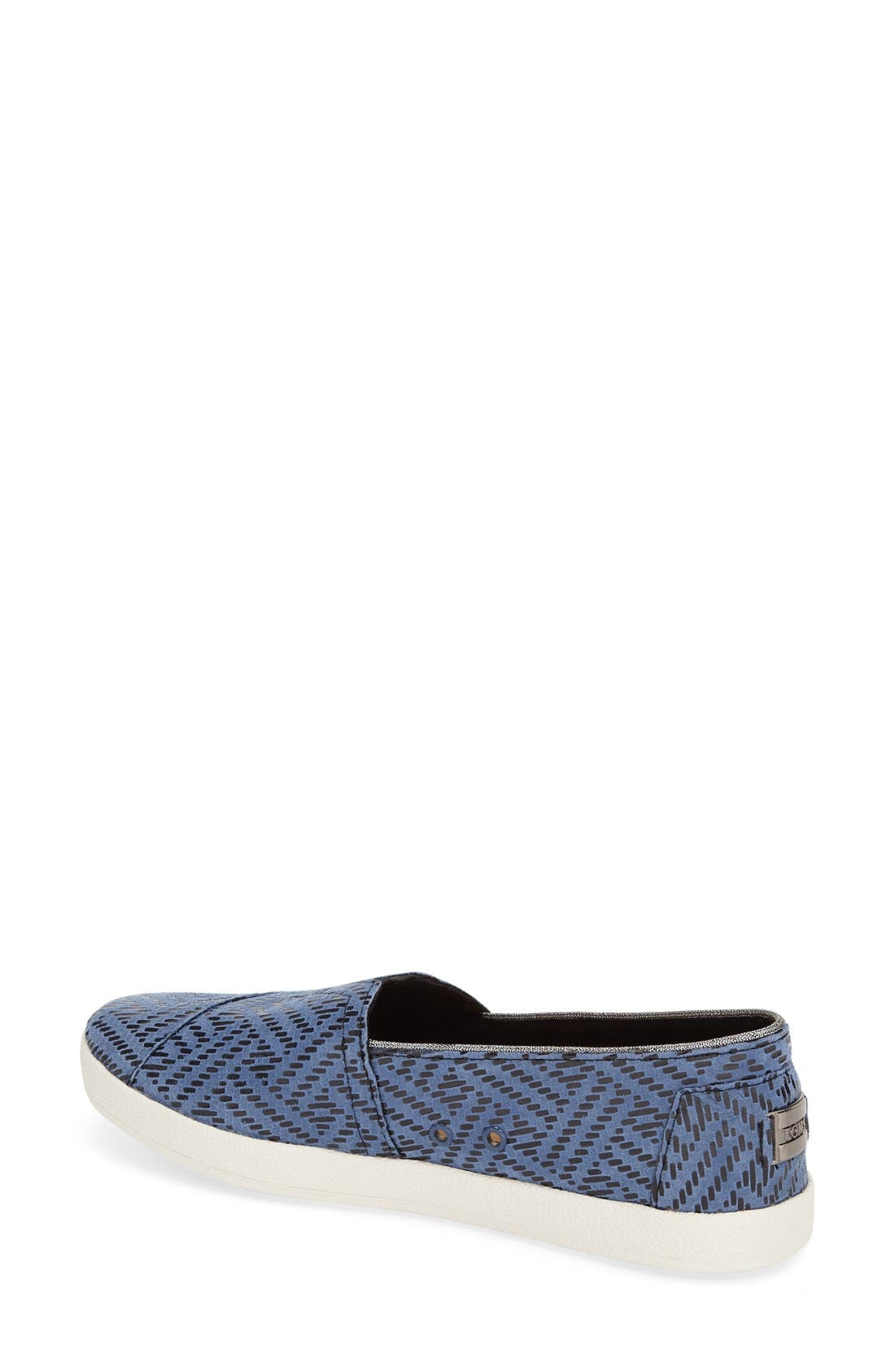TOMS,                             'Avalon' Leather Slip-On,                             Alternate thumbnail 3, color,                             420