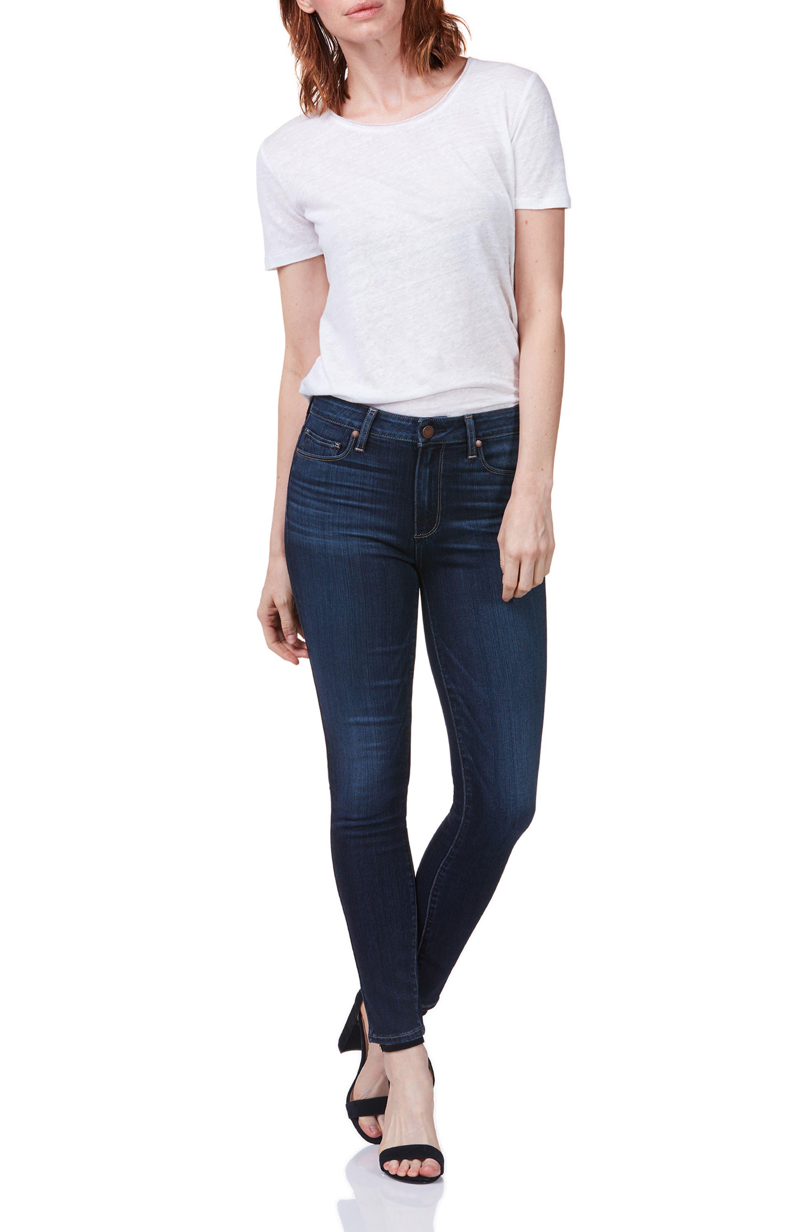 Hoxton High Waist Ultra Skinny Jeans,                             Alternate thumbnail 3, color,                             400