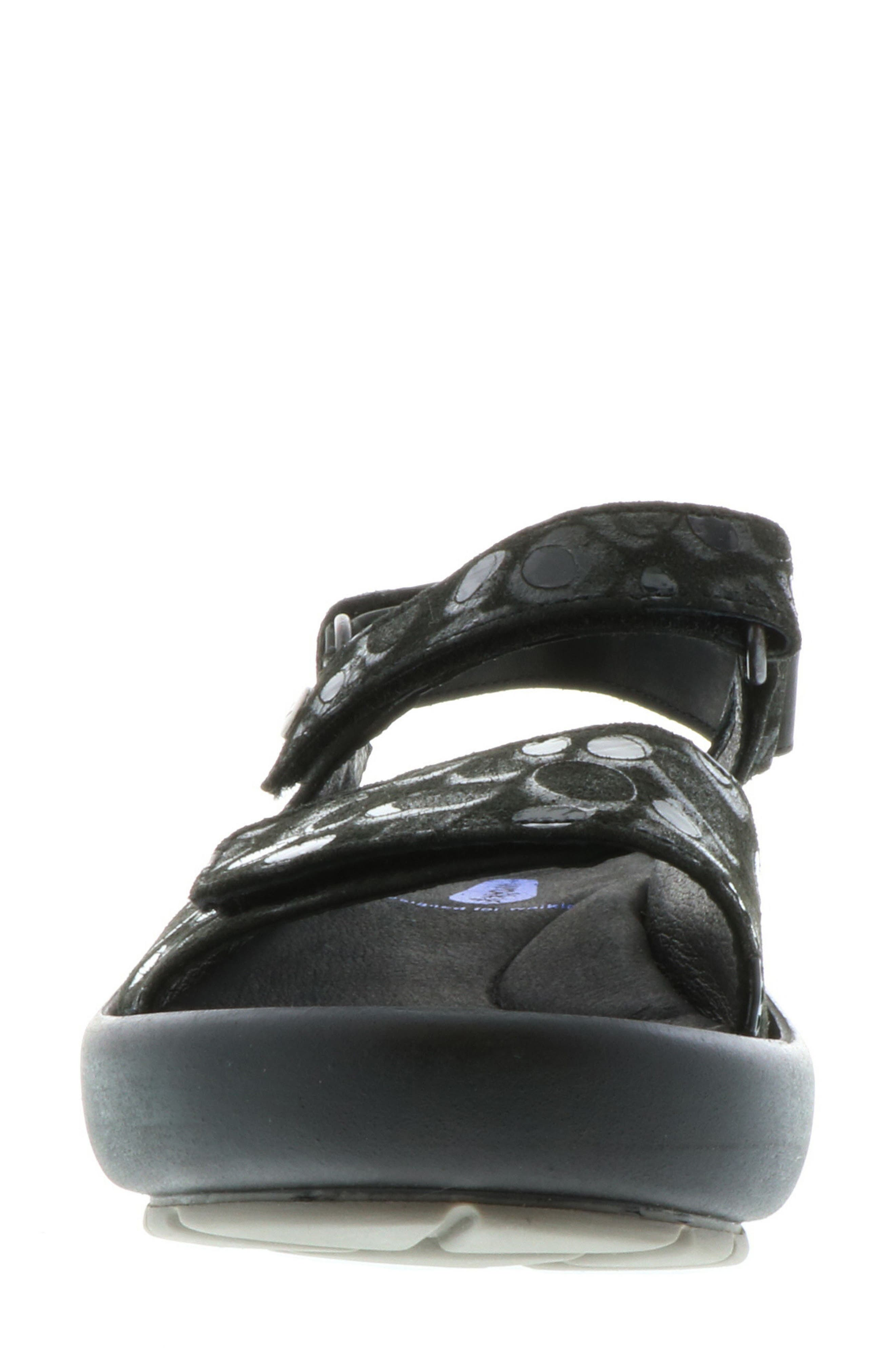 Rio Sandal,                             Alternate thumbnail 4, color,                             BLACK CIRCLE PRINT