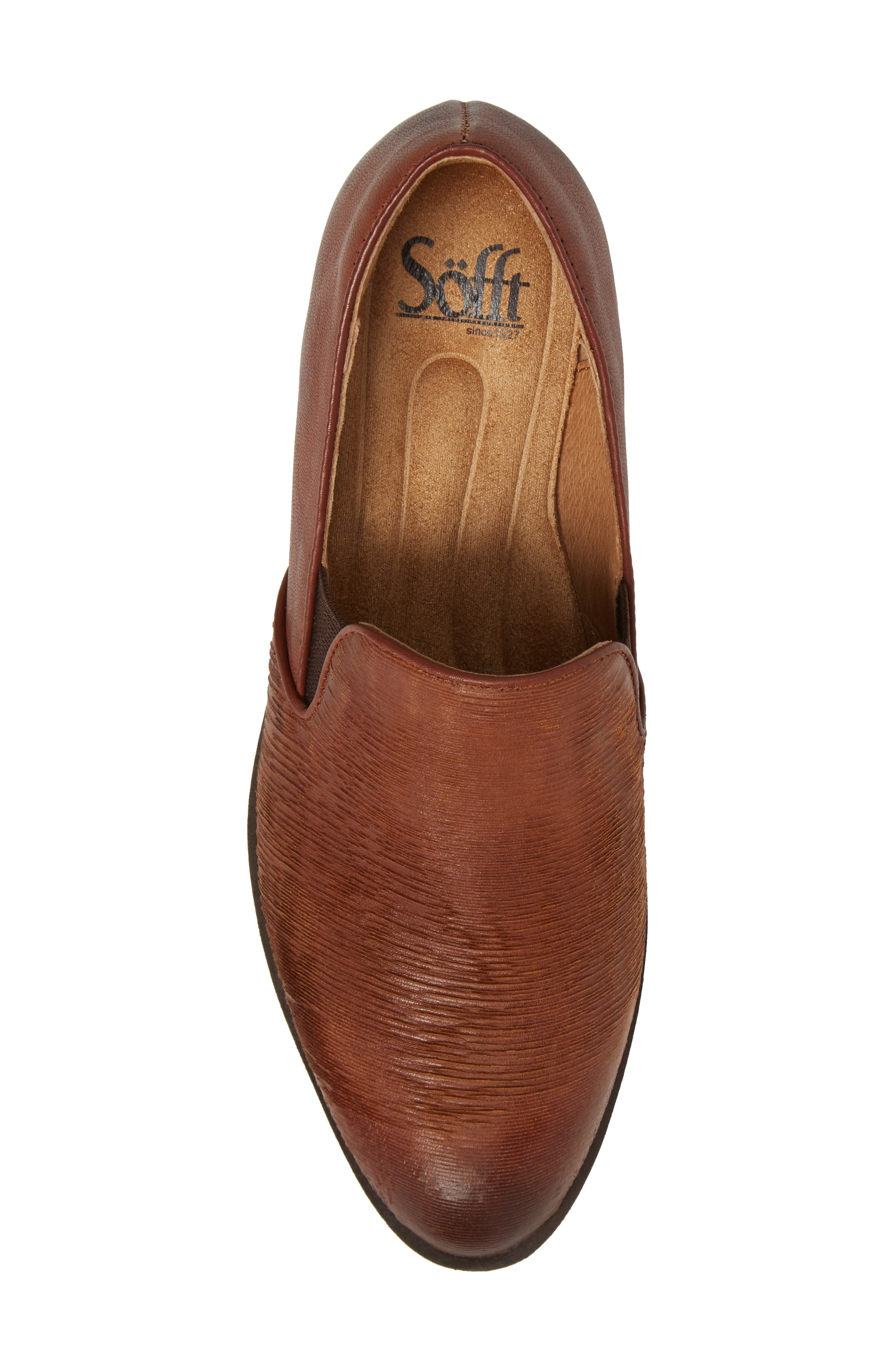 Velina Pump,                             Alternate thumbnail 5, color,                             WHISKEY/ CAFFE LEATHER