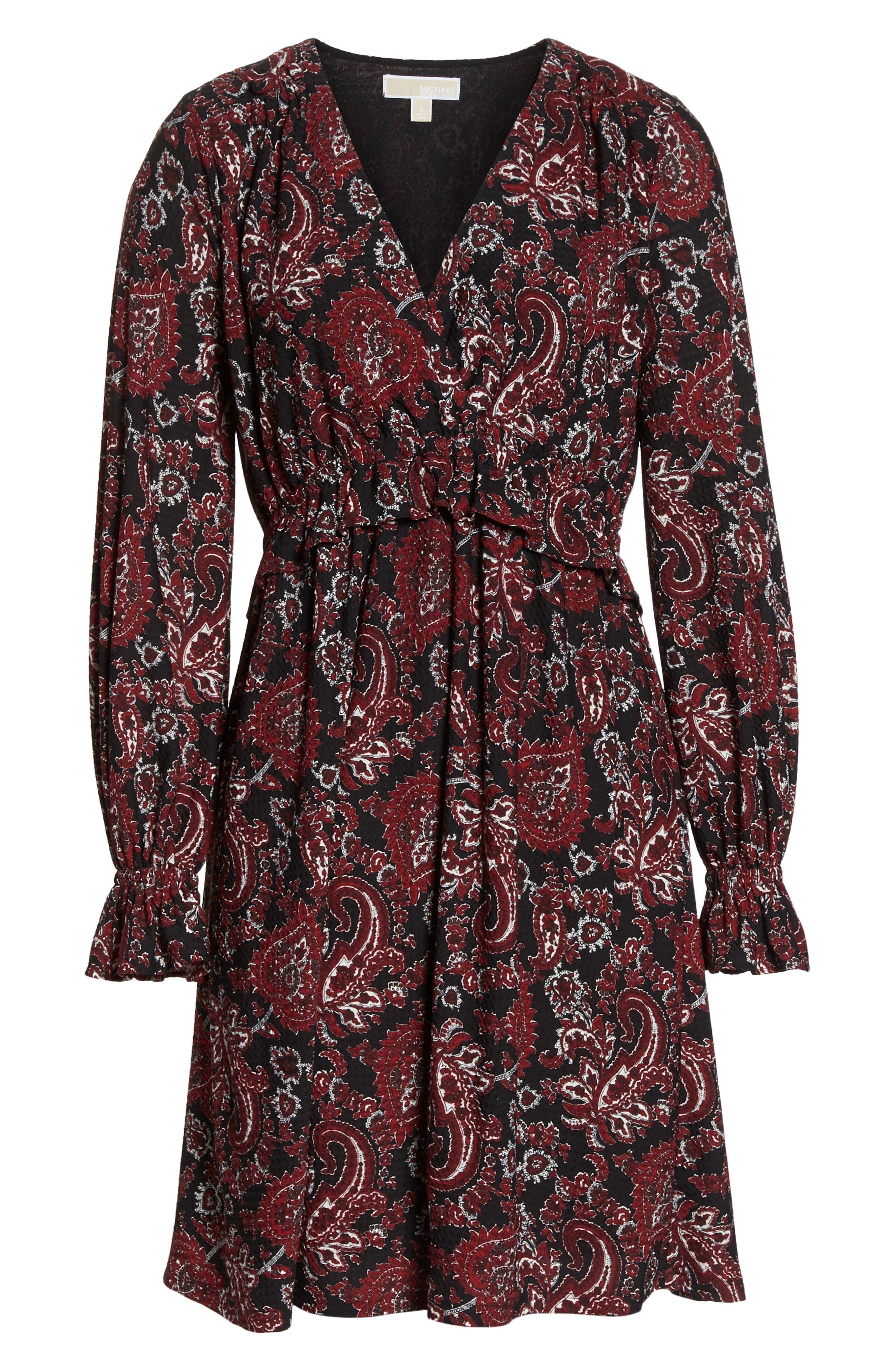 Shirred Ruffle Sleeve Dress,                             Alternate thumbnail 7, color,                             649