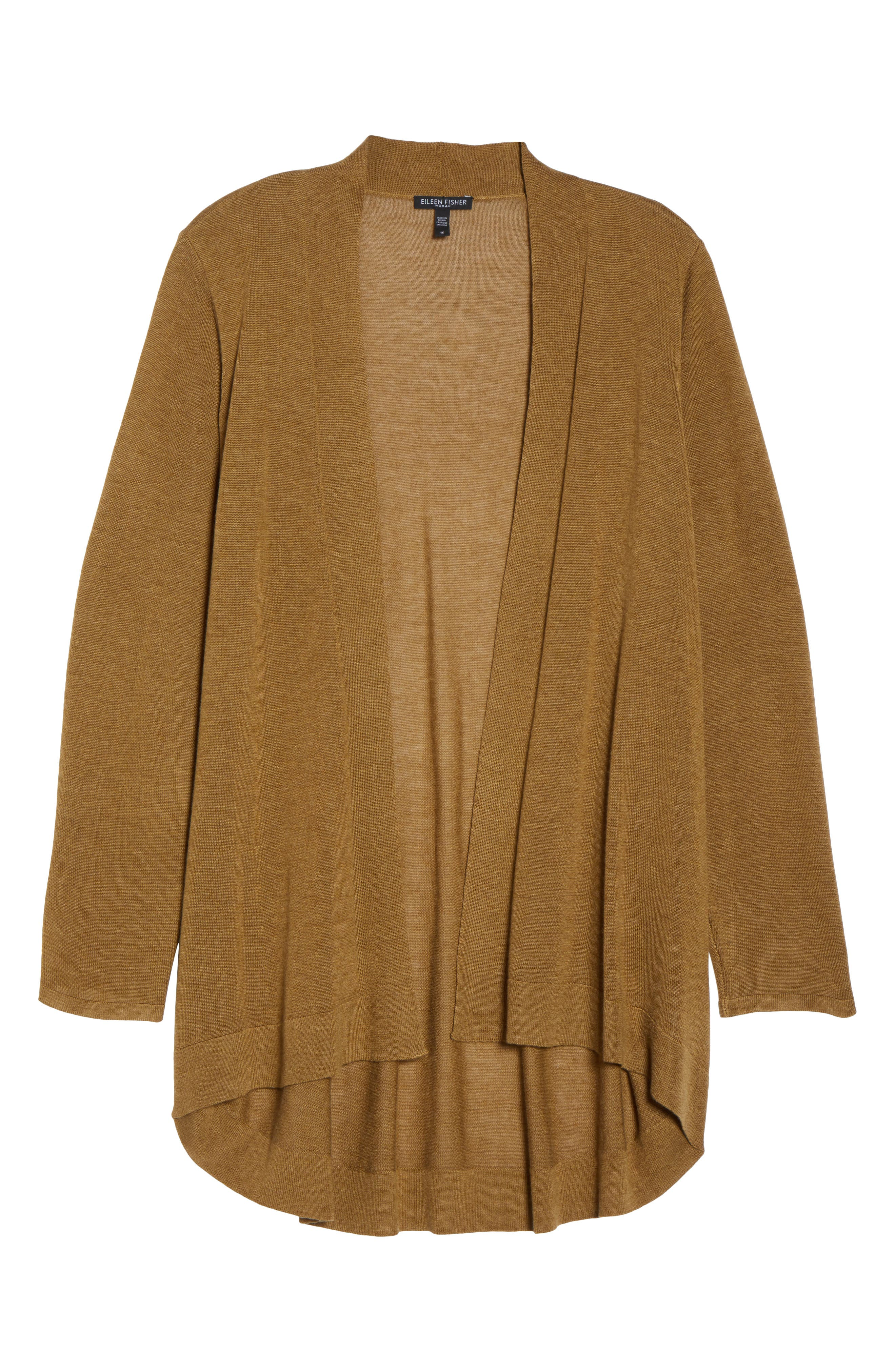 Shaped Tencel<sup>®</sup> Lyocell & Merino Wool Cardigan,                             Alternate thumbnail 23, color,