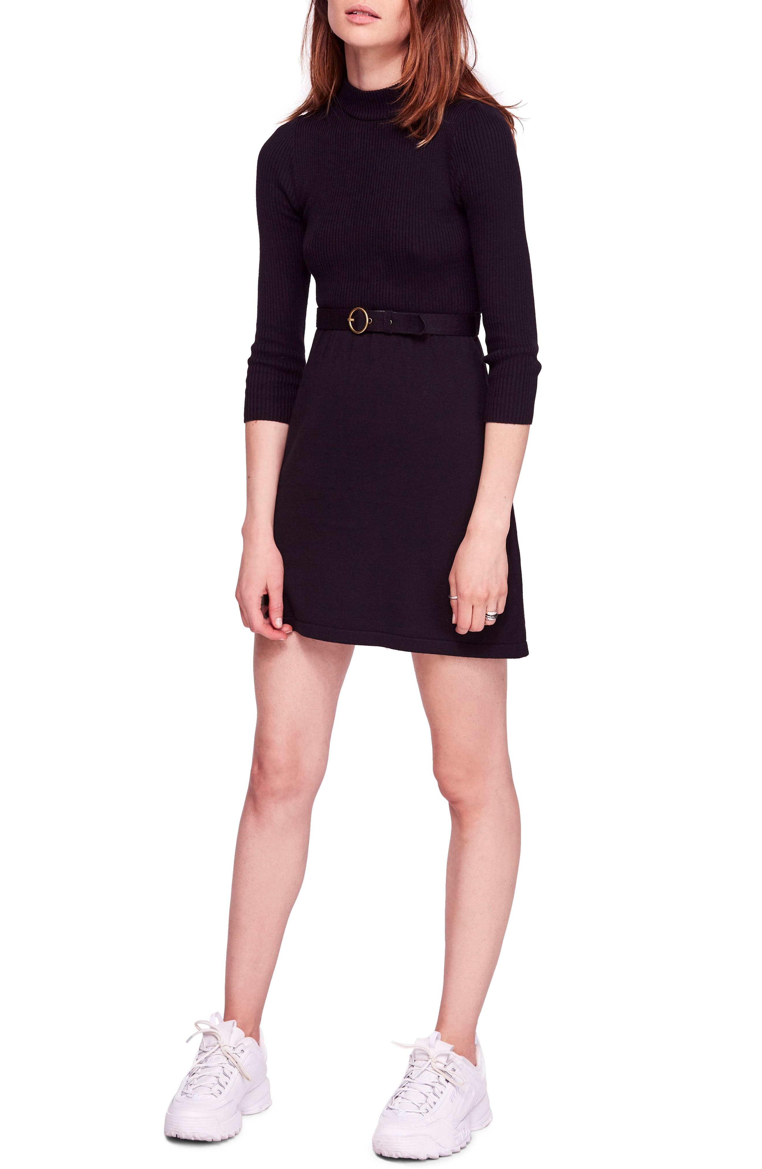French Girl Sweater Minidress, Main, color, 001