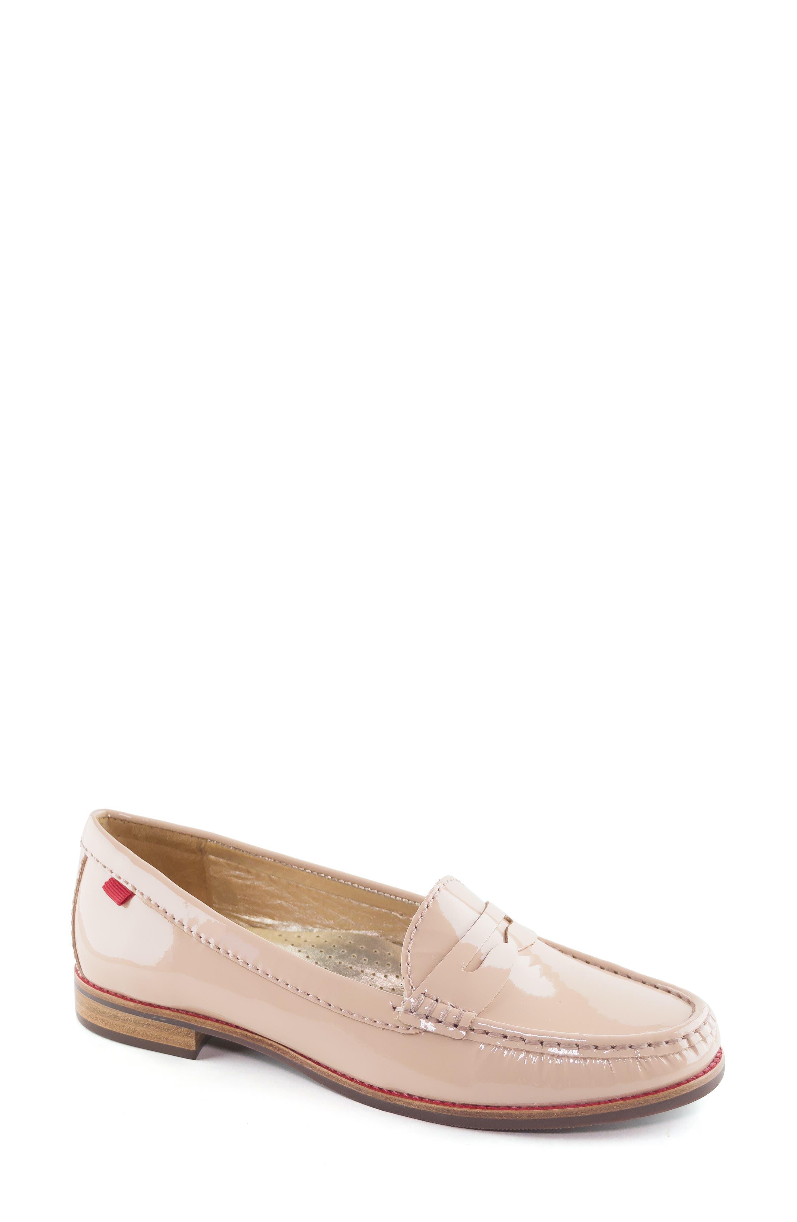 East Village Loafer, Main, color, NUDE PATENT