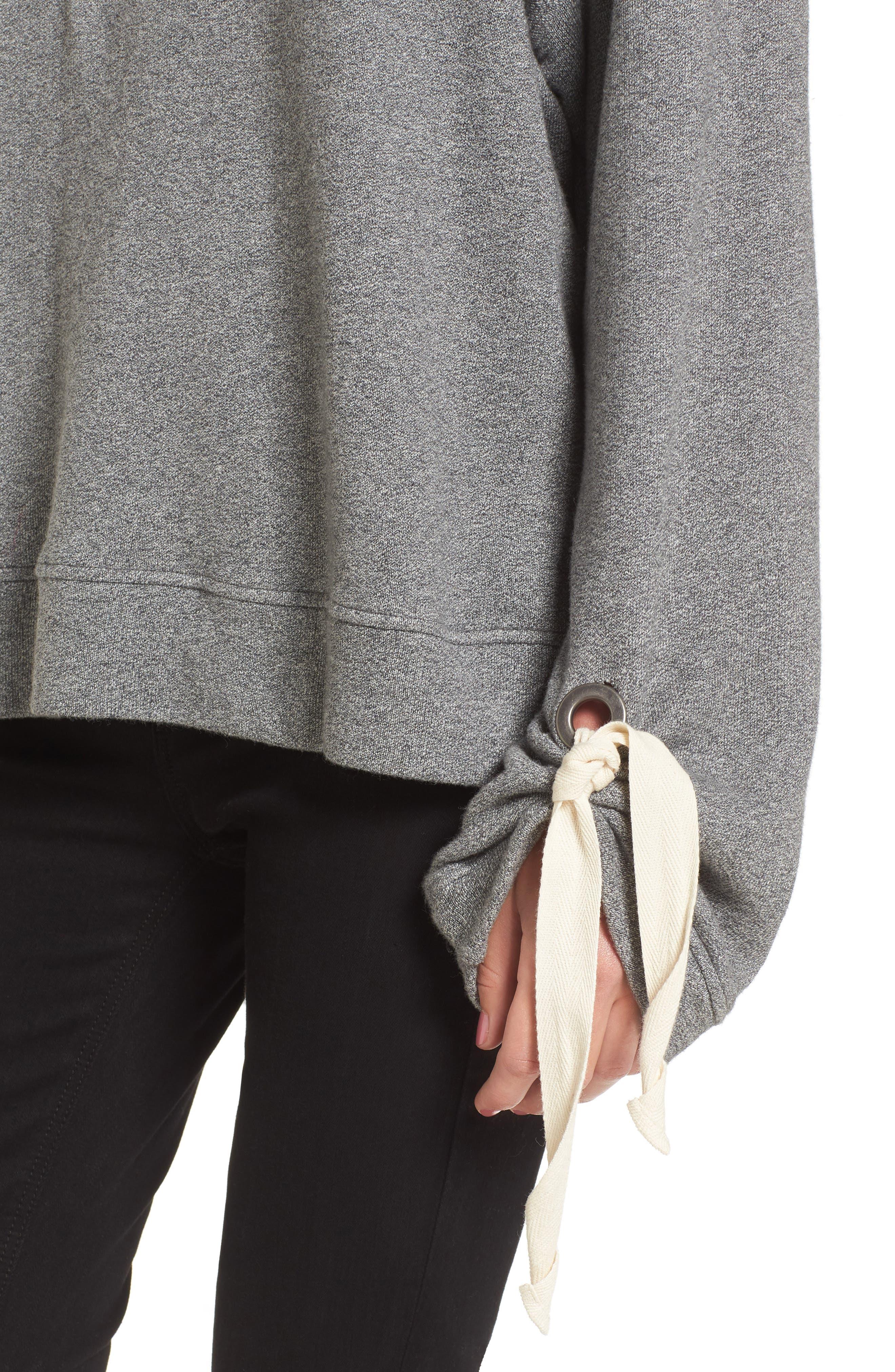 Tie Sleeve Sweater,                             Alternate thumbnail 8, color,