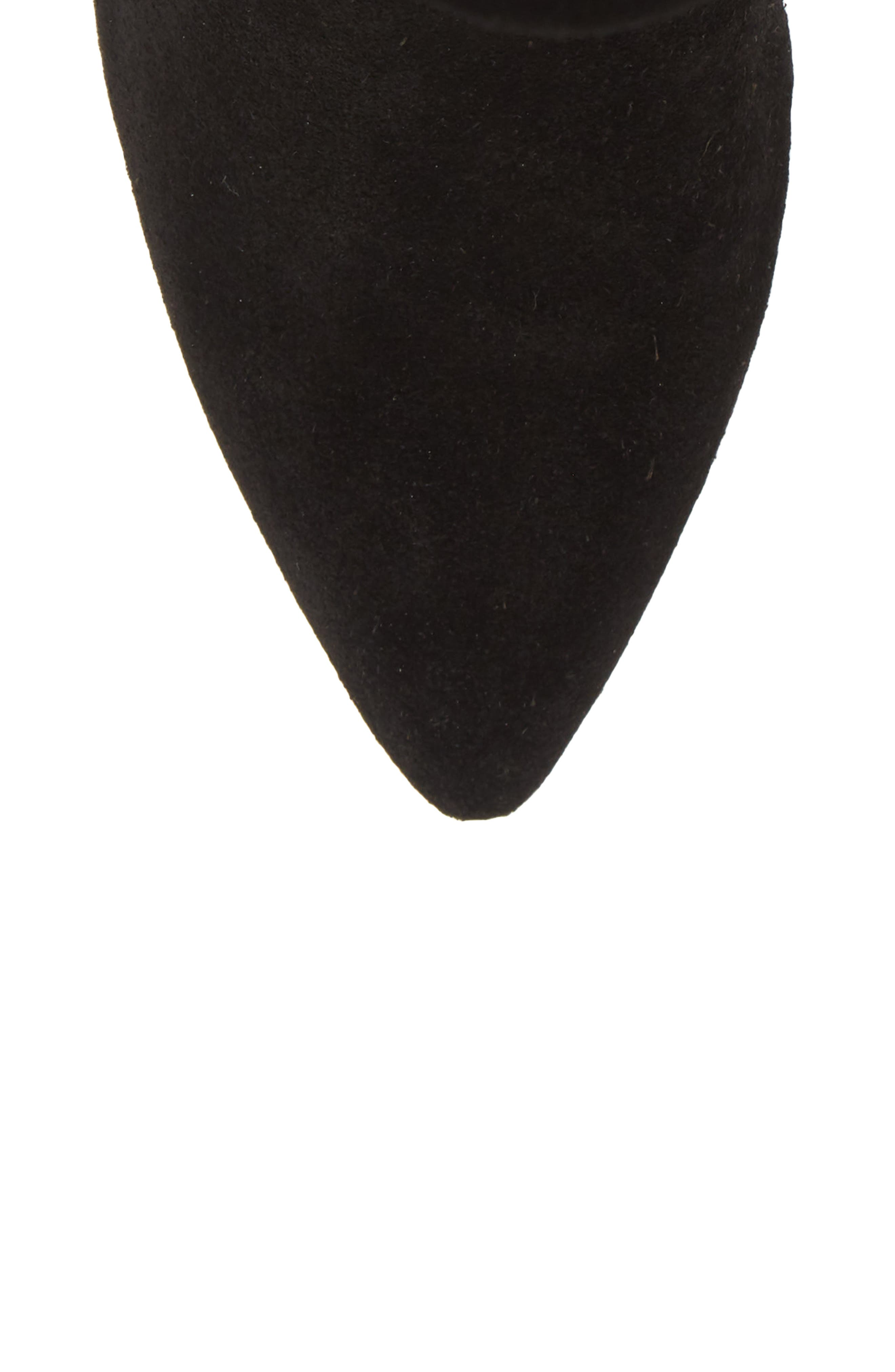 Natthan Slouchy Bootie,                             Alternate thumbnail 5, color,                             BLACK SUEDE